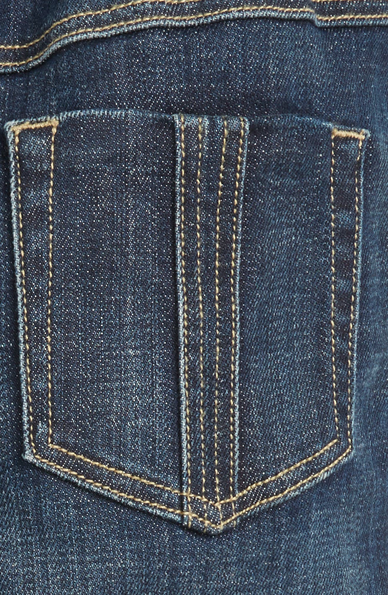 BURBERRY, Pierre Check Lined Jeans, Alternate thumbnail 3, color, 400