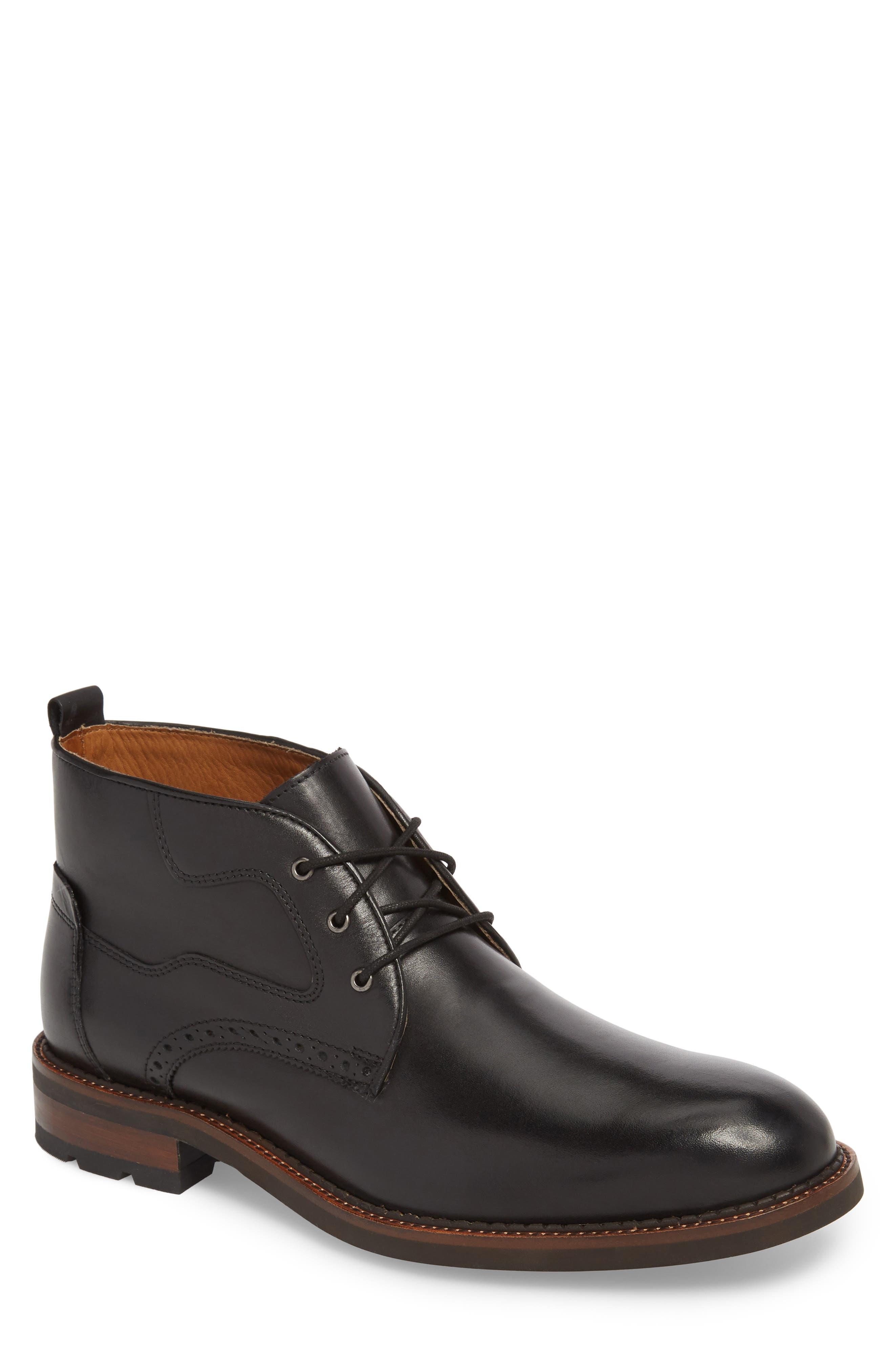 J&M 1850, Fullerton Chukka Boot, Main thumbnail 1, color, BLACK