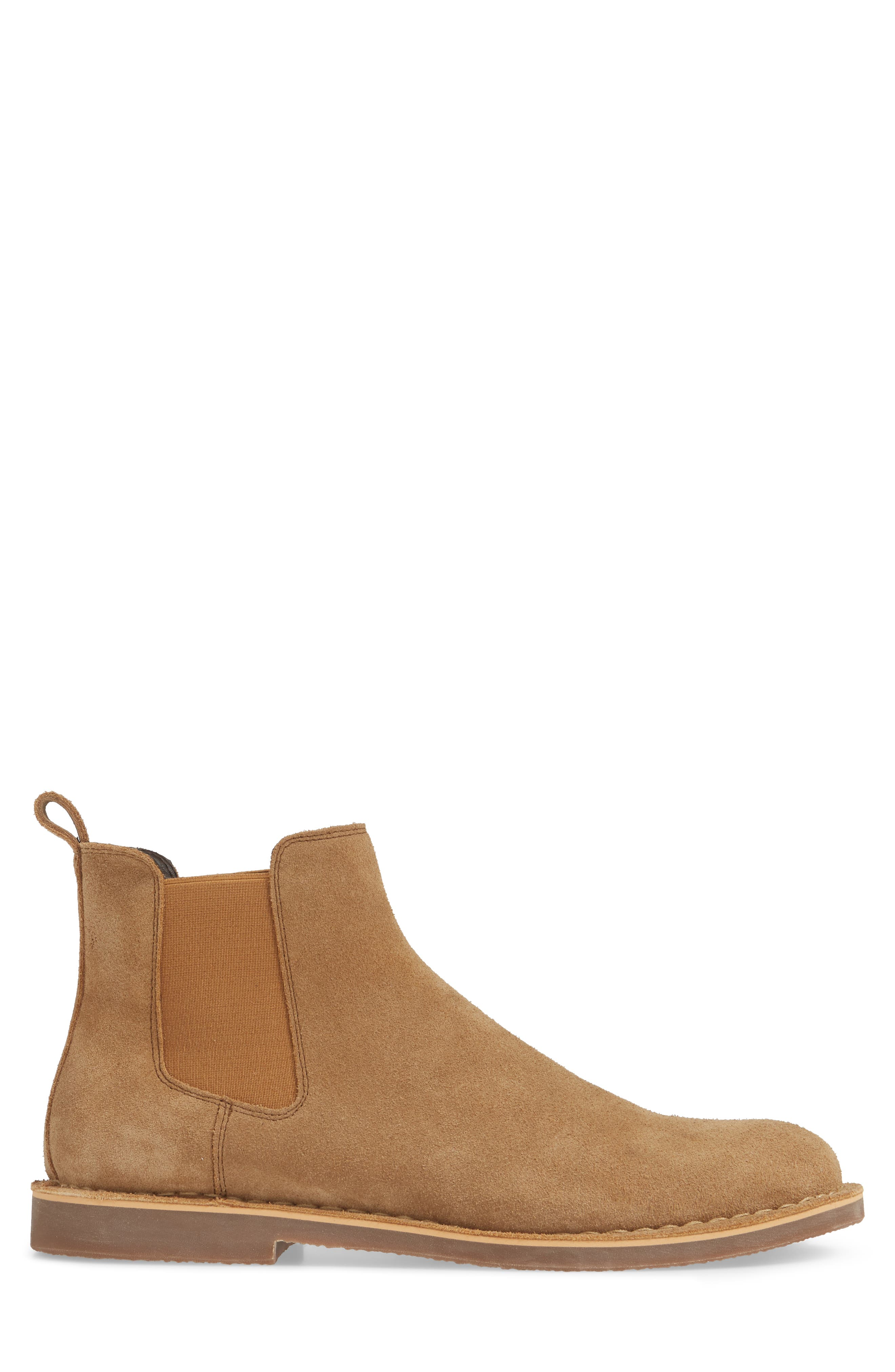 THE RAIL, Payson Chelsea Boot, Alternate thumbnail 3, color, SAND SUEDE