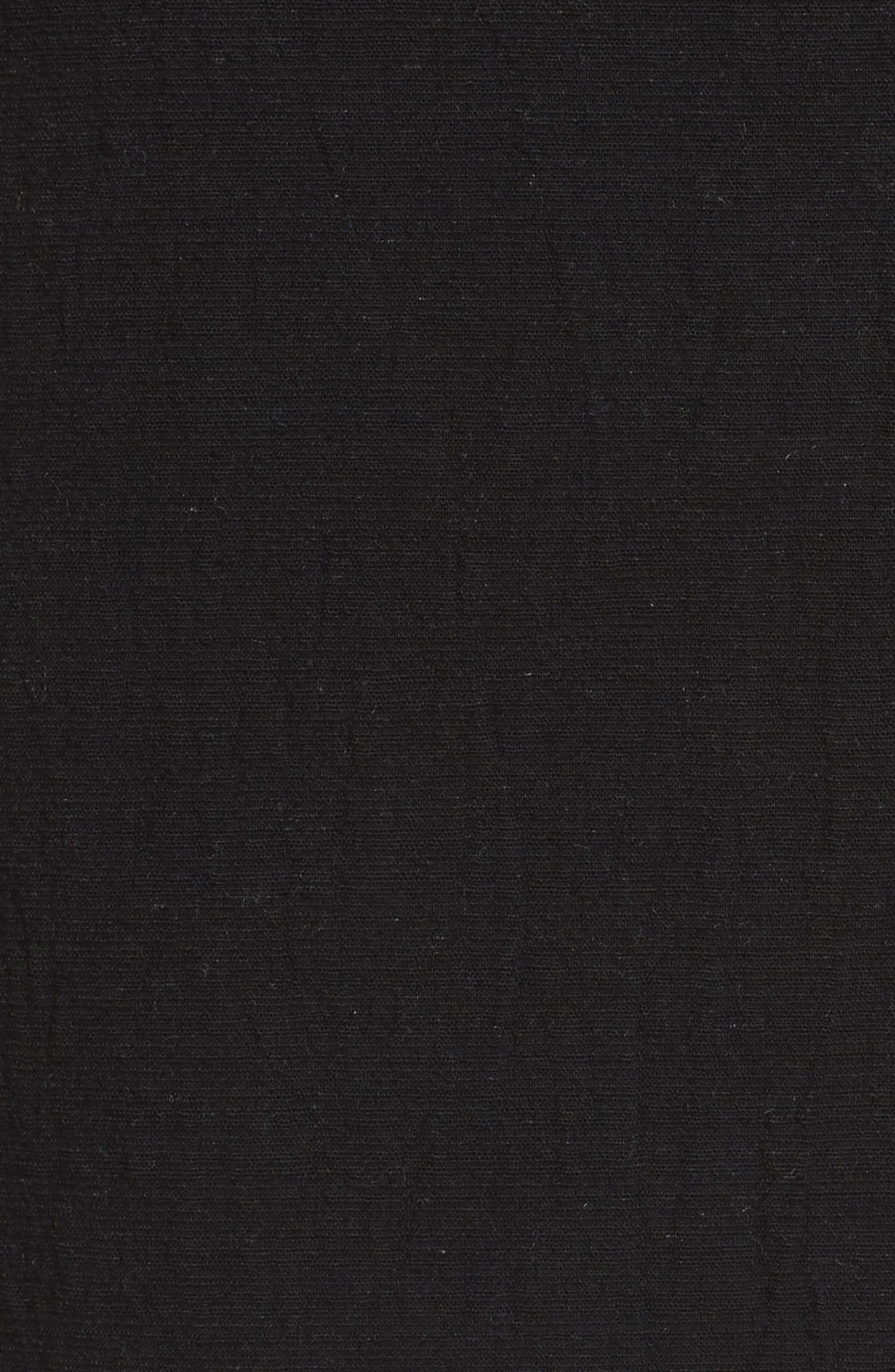J.O.A., Button Front Miniskirt, Alternate thumbnail 5, color, 001