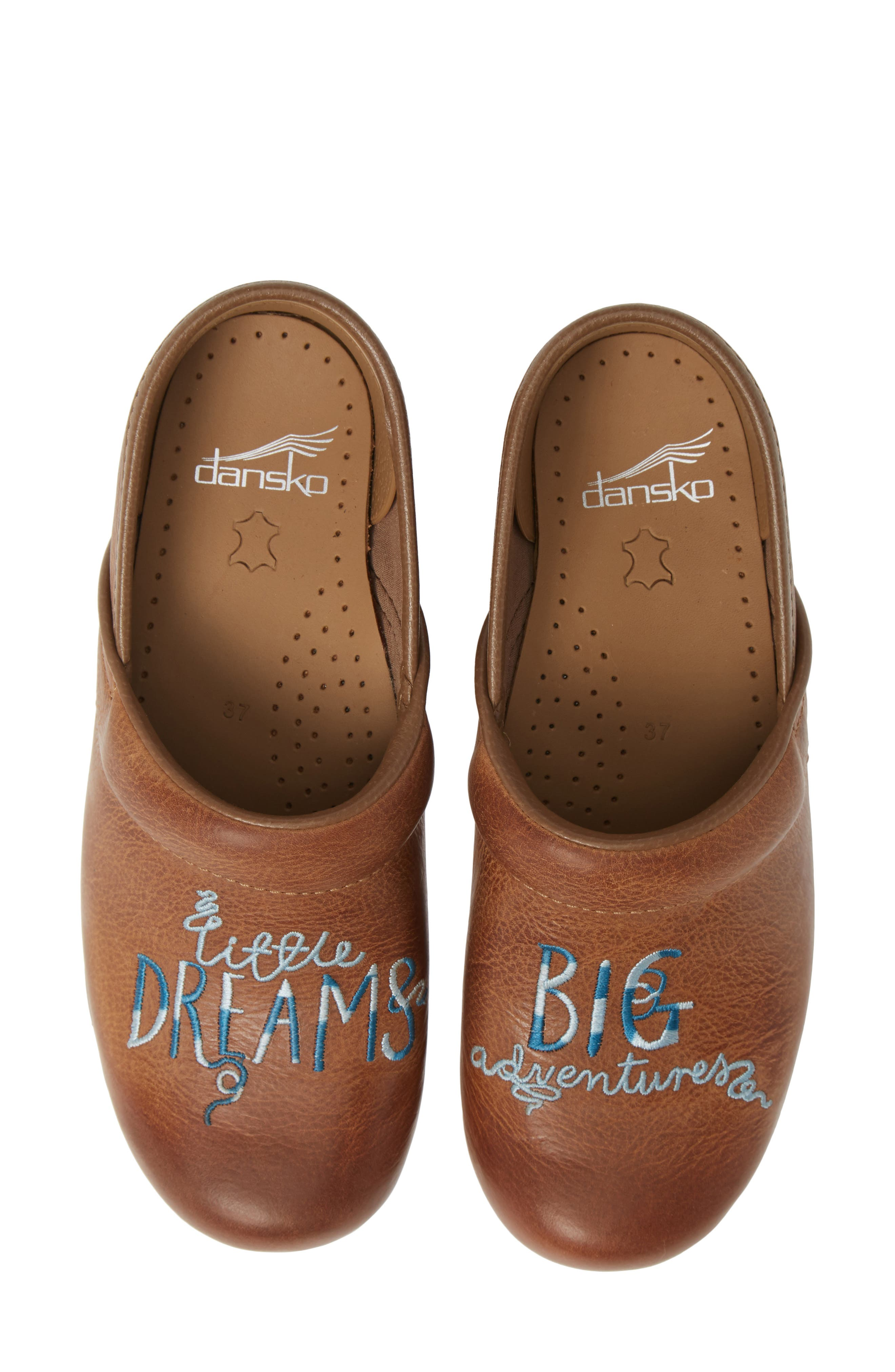 DANSKO, Twin Pro Embroidered Clog, Main thumbnail 1, color, DREAMS LEATHER