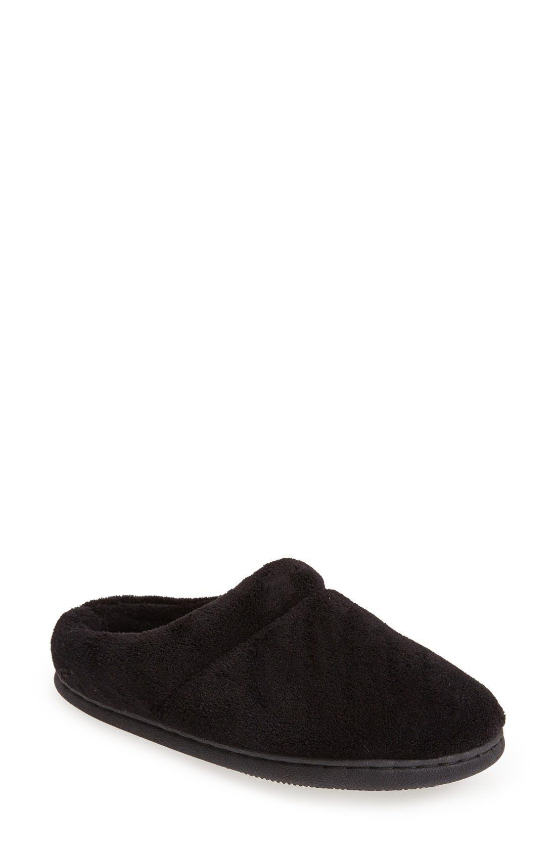 TEMPUR-PEDIC<SUP>®</SUP> 'Windsock' Slipper, Main, color, BLACK