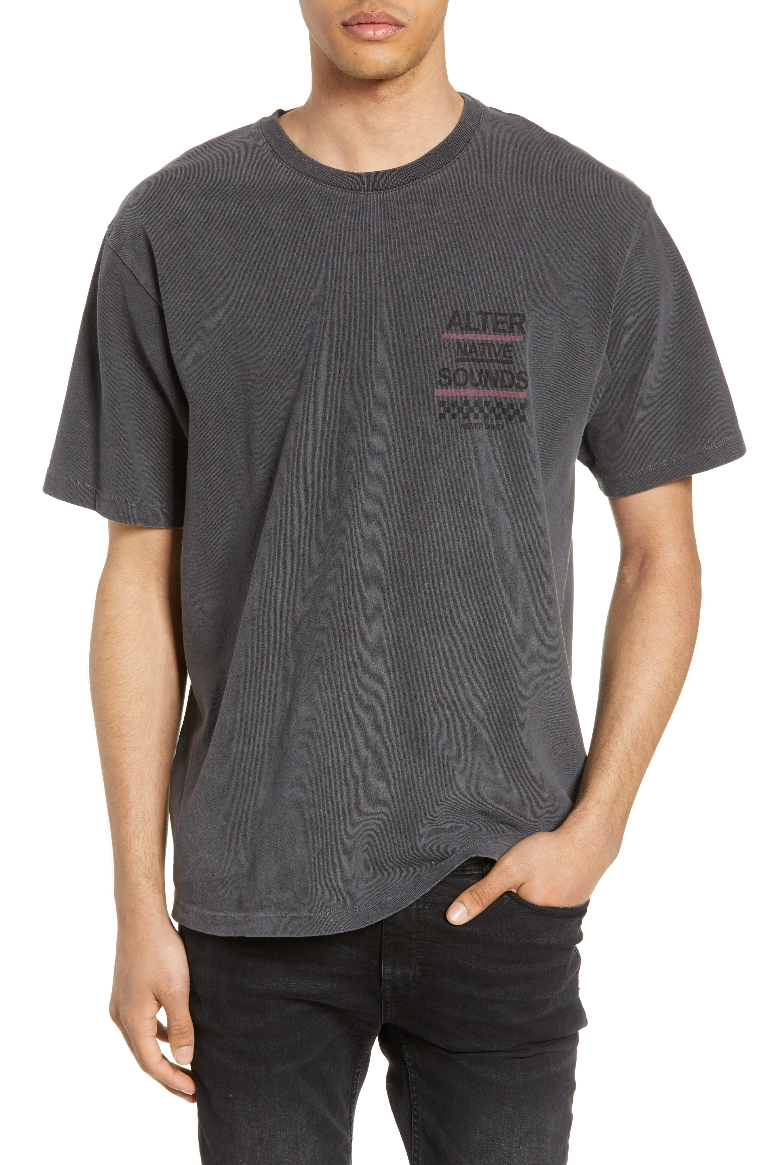 THE KOOPLES Graphic T-Shirt, Main, color, WASHED GREY