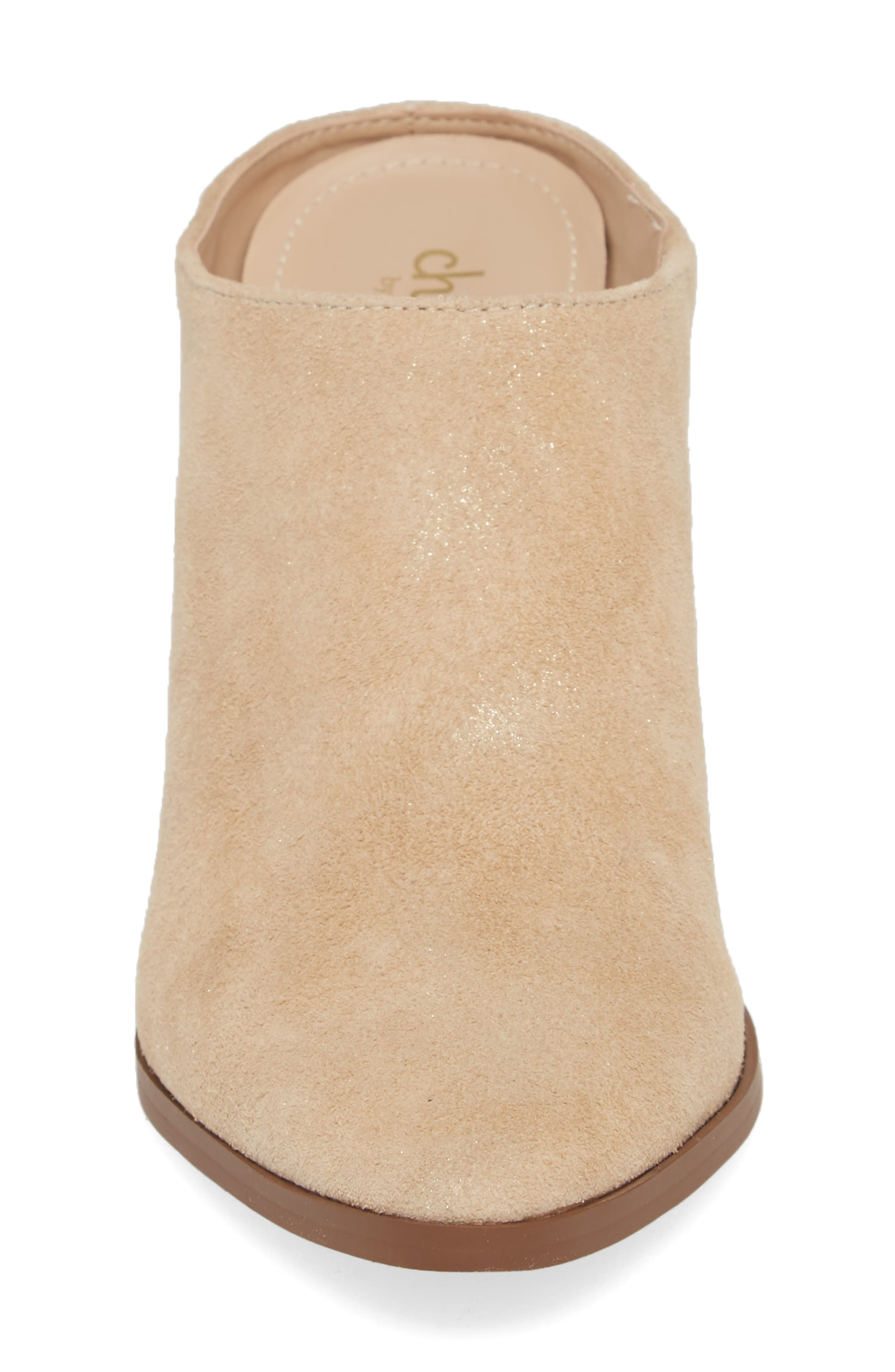 CHARLES BY CHARLES DAVID, Nico Mule, Alternate thumbnail 4, color, NUDE LIGHT GOLD SUEDE