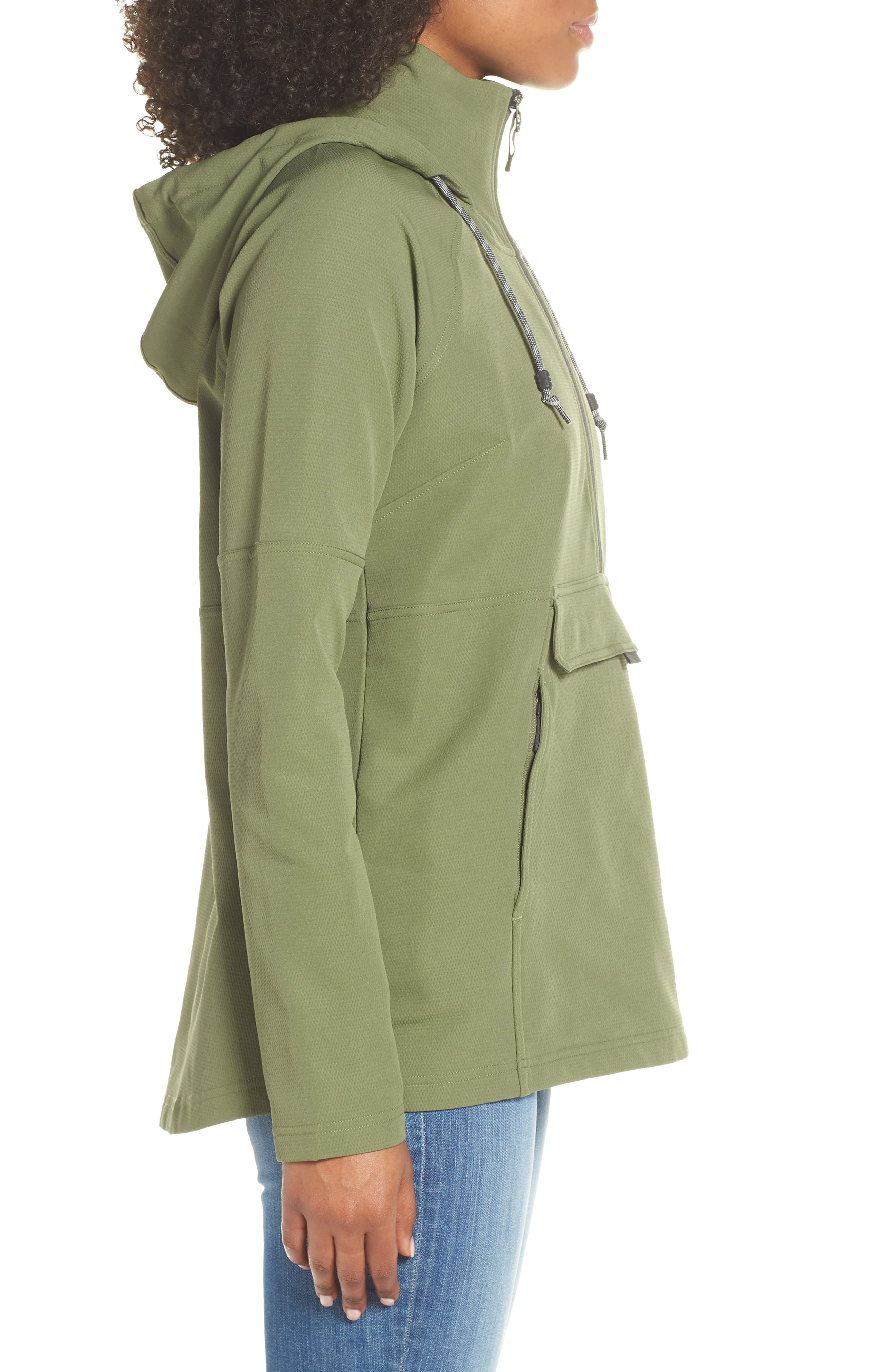 THE NORTH FACE, Tekno Ridge Hoodie, Alternate thumbnail 4, color, FOUR LEAF CLOVER