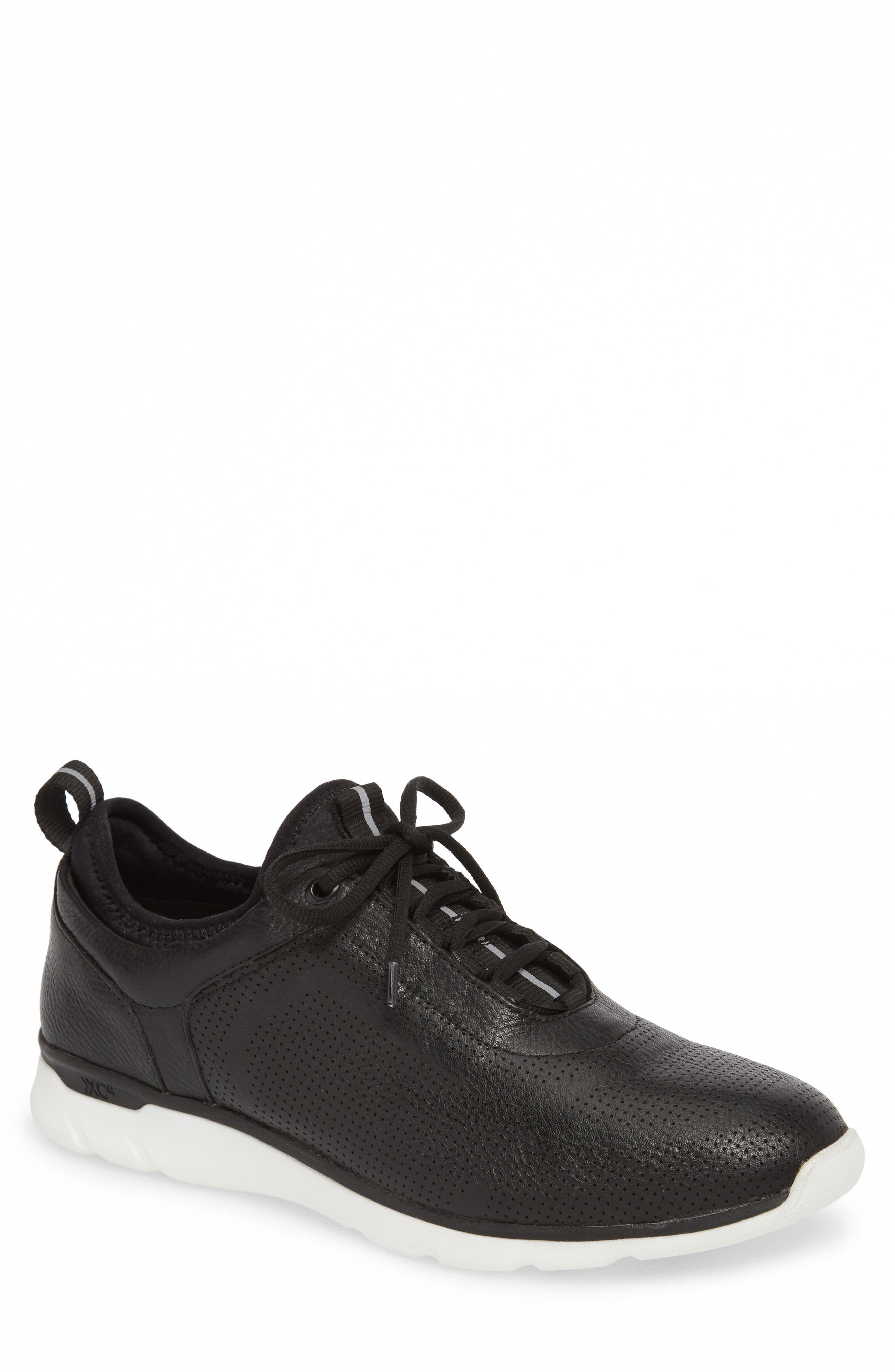 JOHNSTON & MURPHY Prentiss XC4<sup>®</sup> Waterproof Sneaker, Main, color, BLACK LEATHER