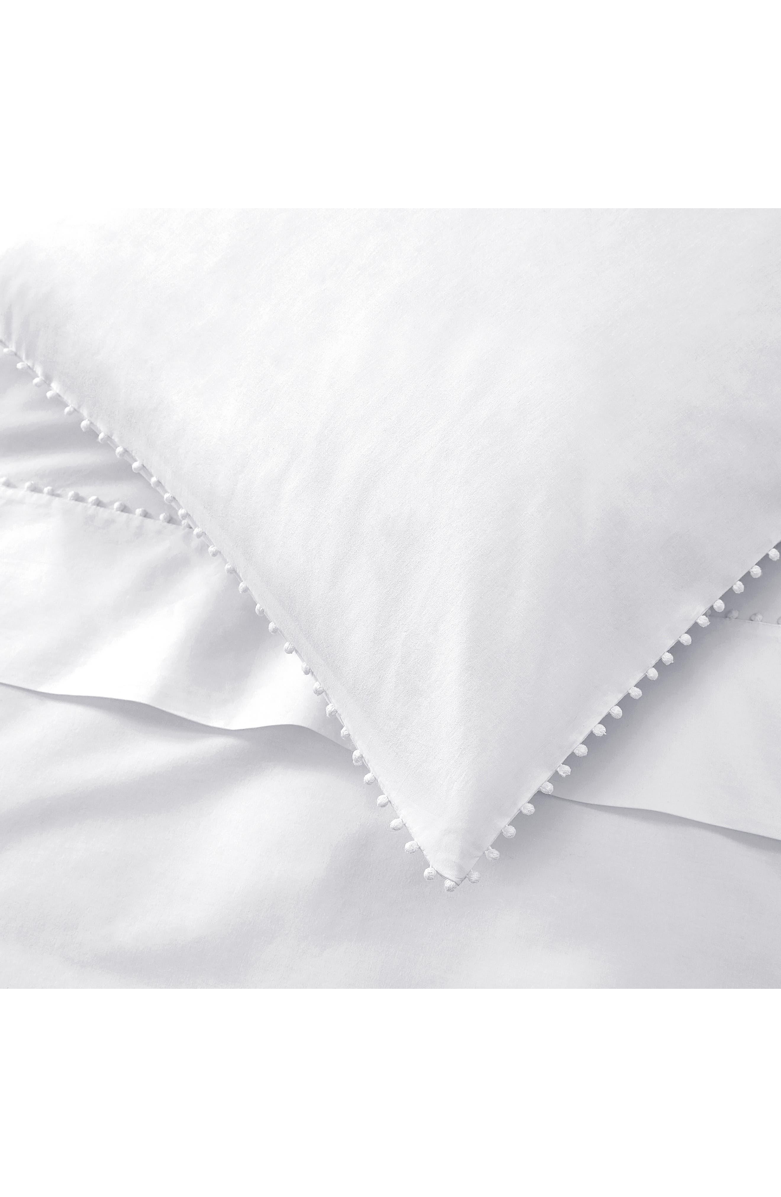 THE WHITE COMPANY, Avignon 200 Thread Count Euro Pillowcase, Alternate thumbnail 2, color, WHITE