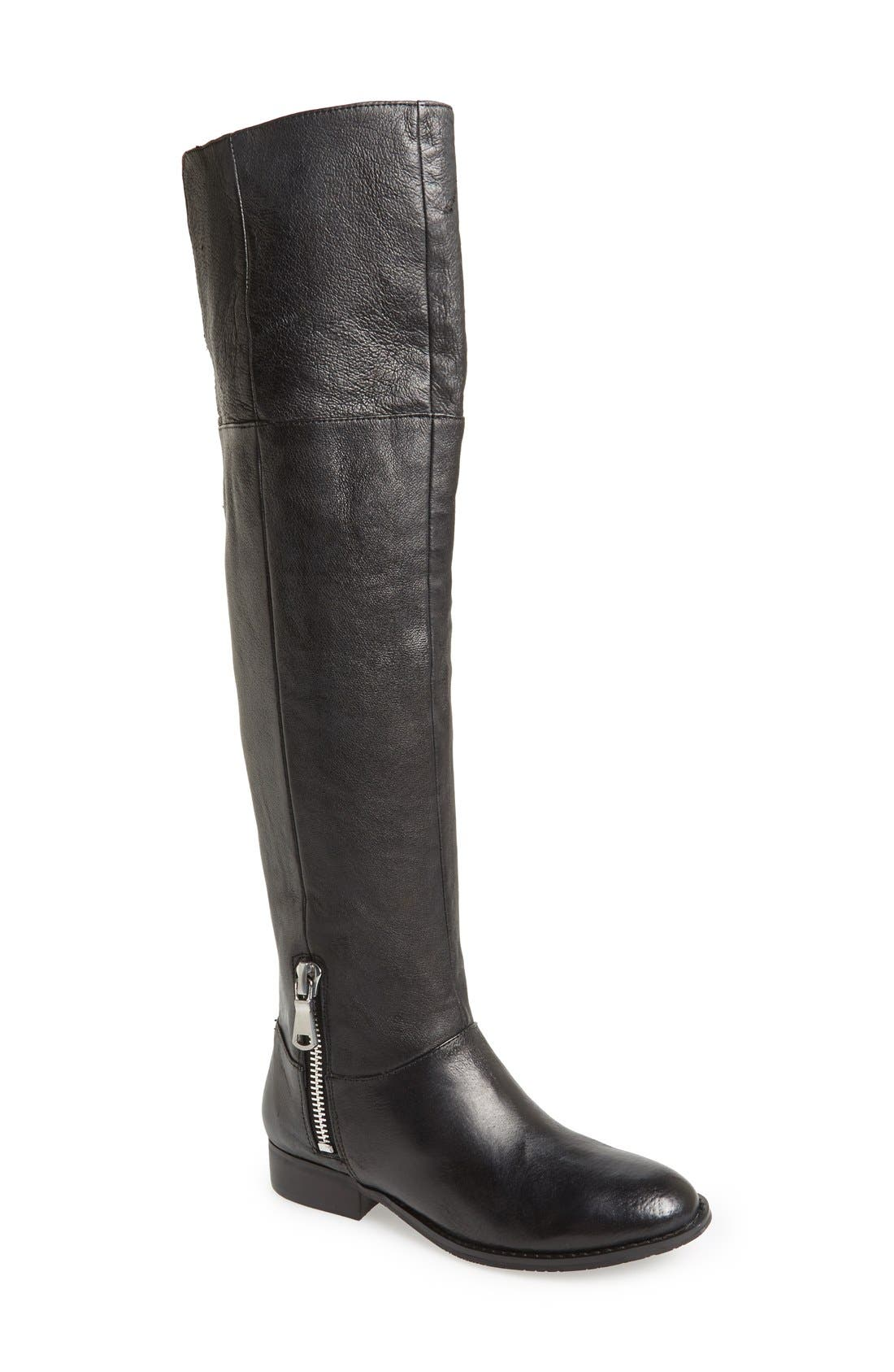 CHINESE LAUNDRY, 'Fawn' Leather Riding Boot, Main thumbnail 1, color, 001