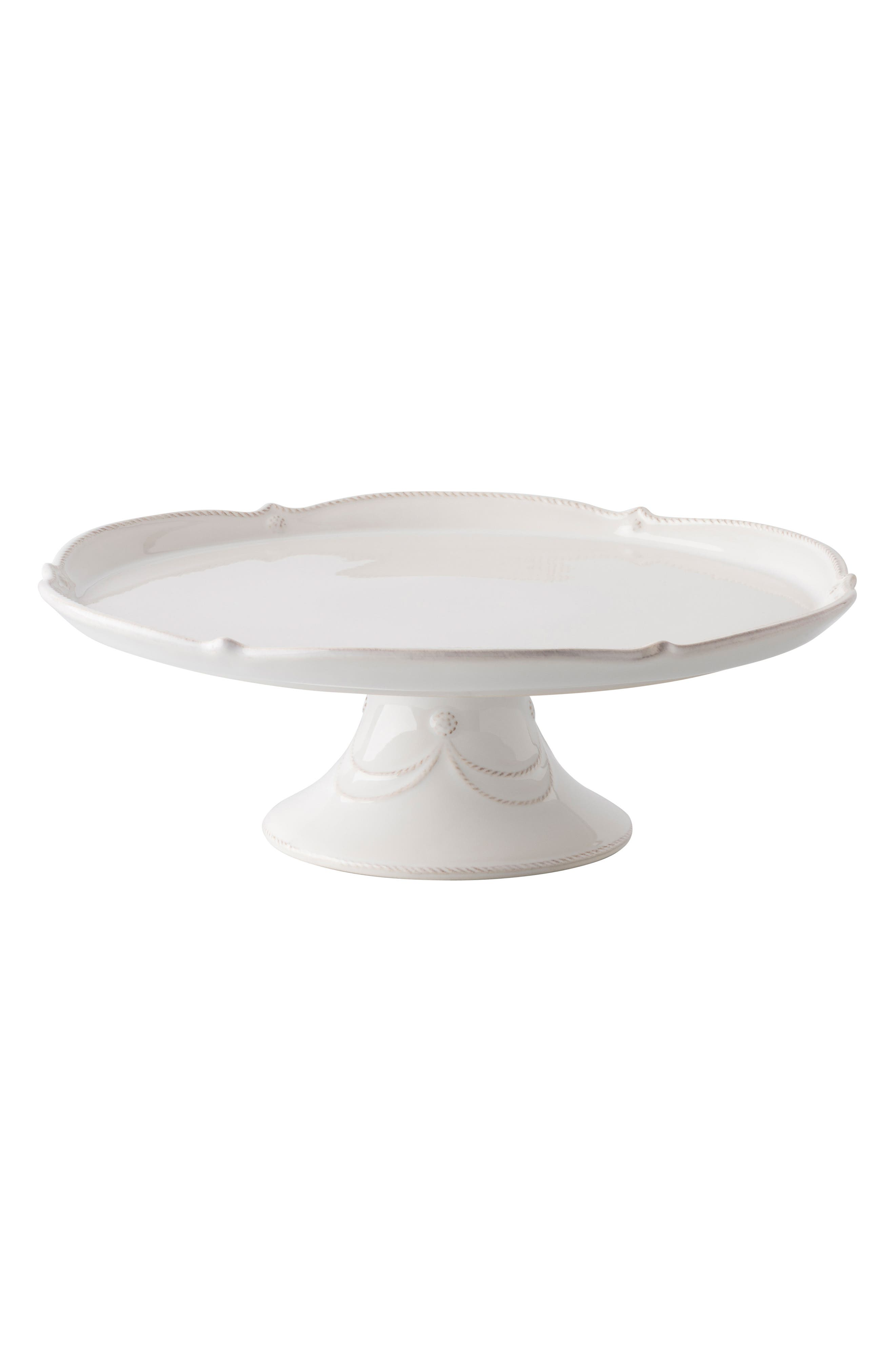 JULISKA, Berry & Thread Ceramic Cake Stand, Main thumbnail 1, color, WHITEWASH