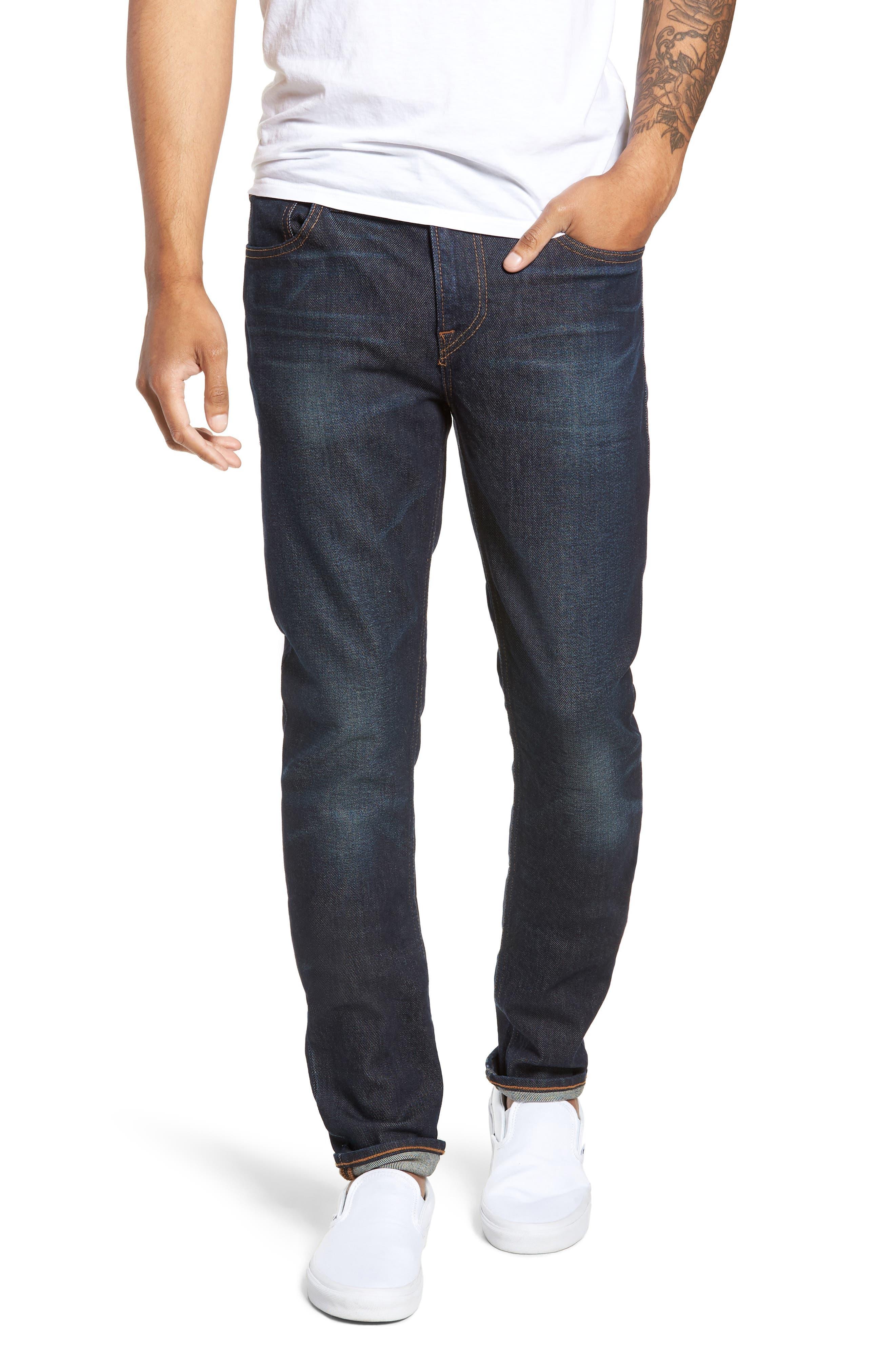 HUDSON JEANS, Axl Skinny Fit Jeans, Main thumbnail 1, color, VERKLER