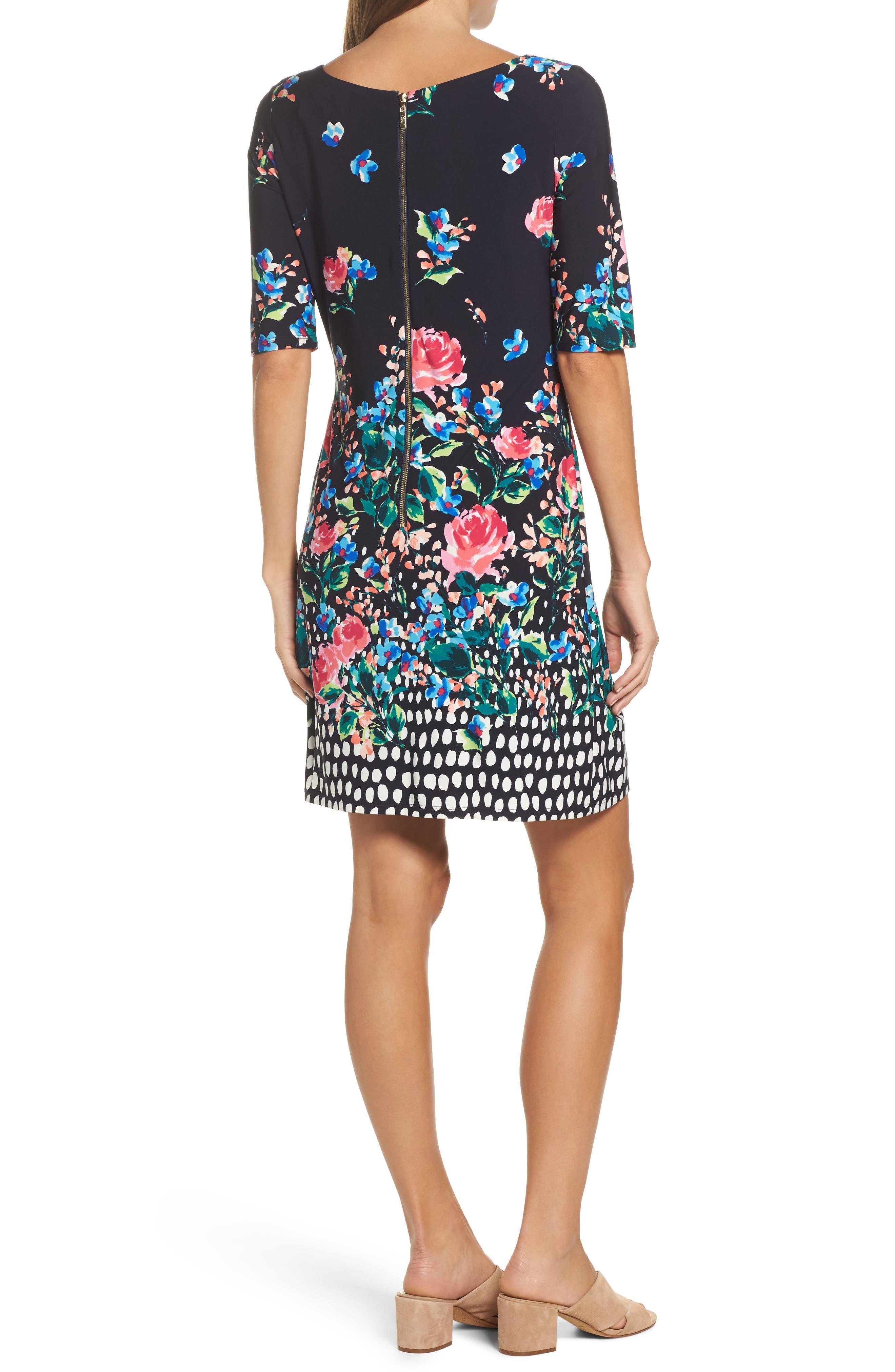 ELIZA J, Jersey Shift Dress, Alternate thumbnail 2, color, 410