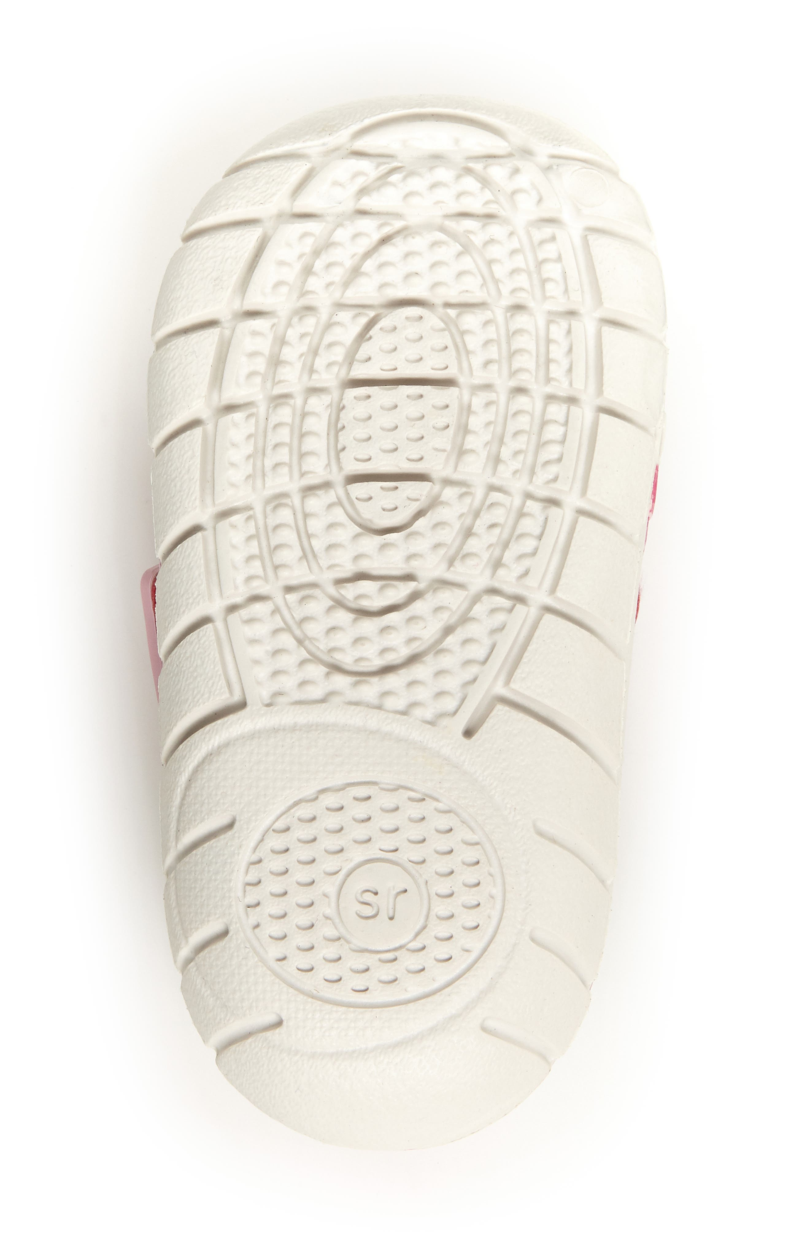 STRIDE RITE, Made2Play<sup>®</sup> Phibian Sneaker, Alternate thumbnail 5, color, WHITE/ PINK EVA