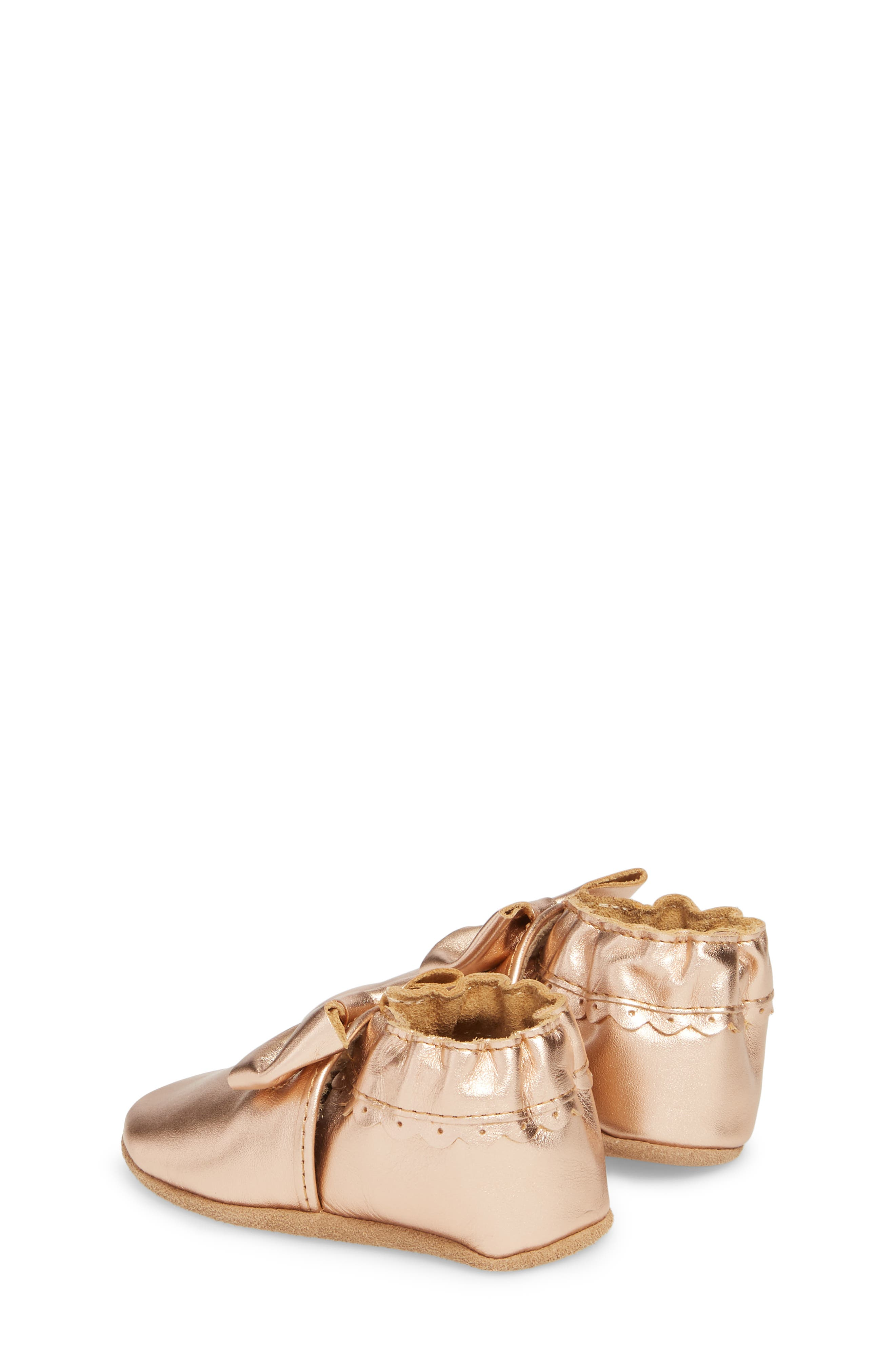 ROBEEZ<SUP>®</SUP>, Rosie Crib Shoes, Alternate thumbnail 2, color, ROSE GOLD