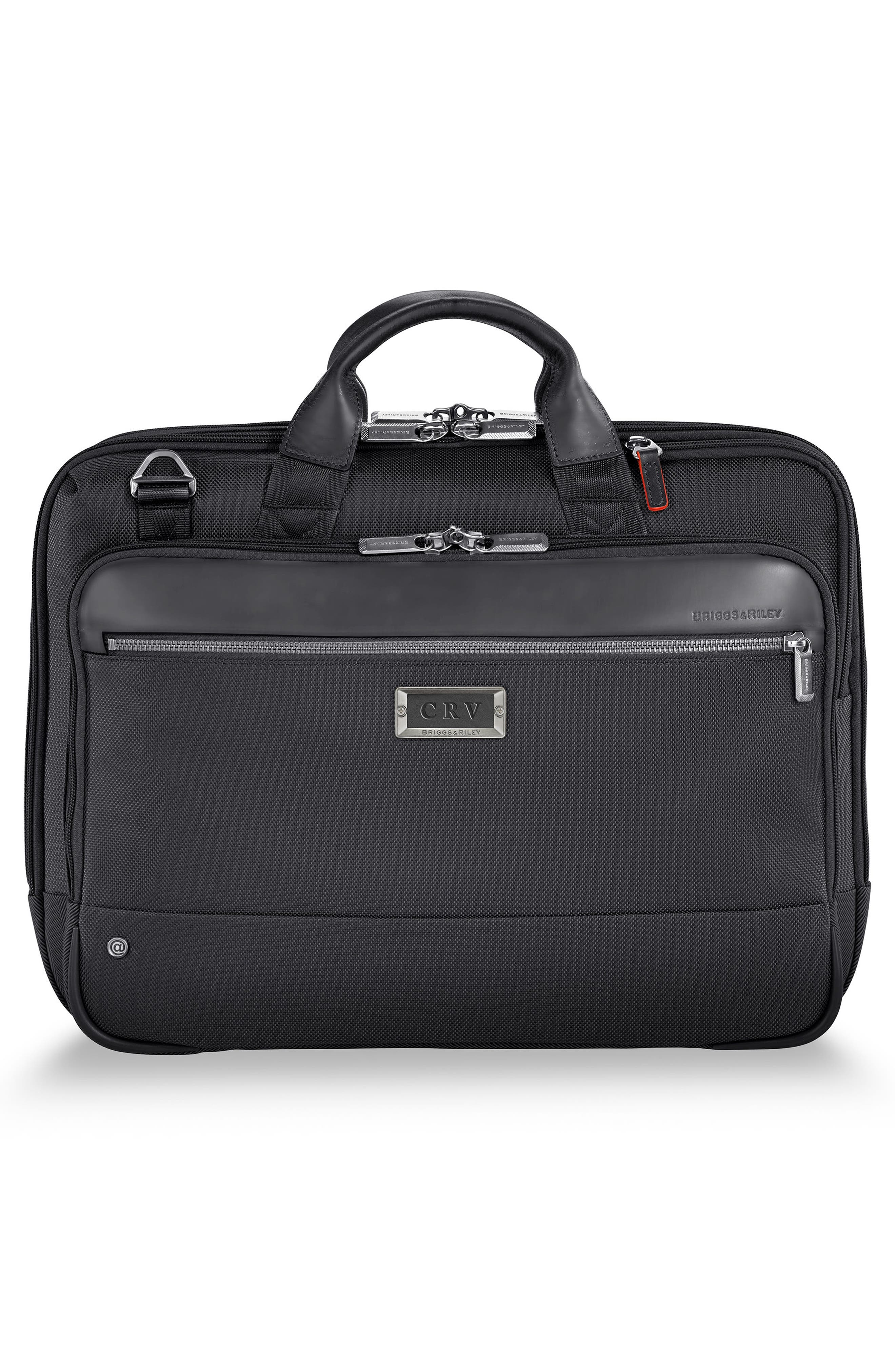 BRIGGS & RILEY, @work Medium Briefcase, Alternate thumbnail 4, color, BLACK