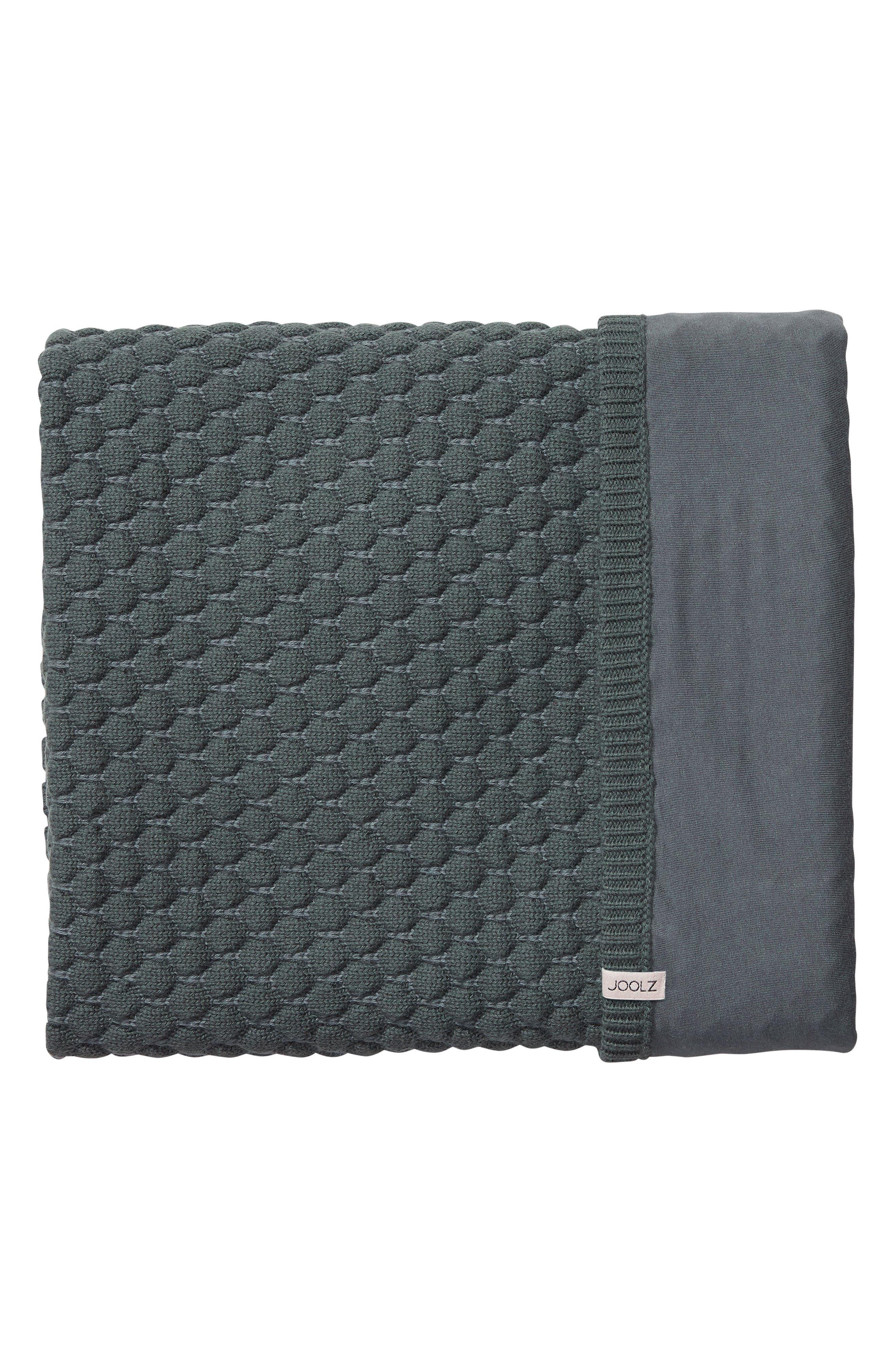 JOOLZ, Essentials Honeycomb Organic Cotton Blanket, Main thumbnail 1, color, GREY