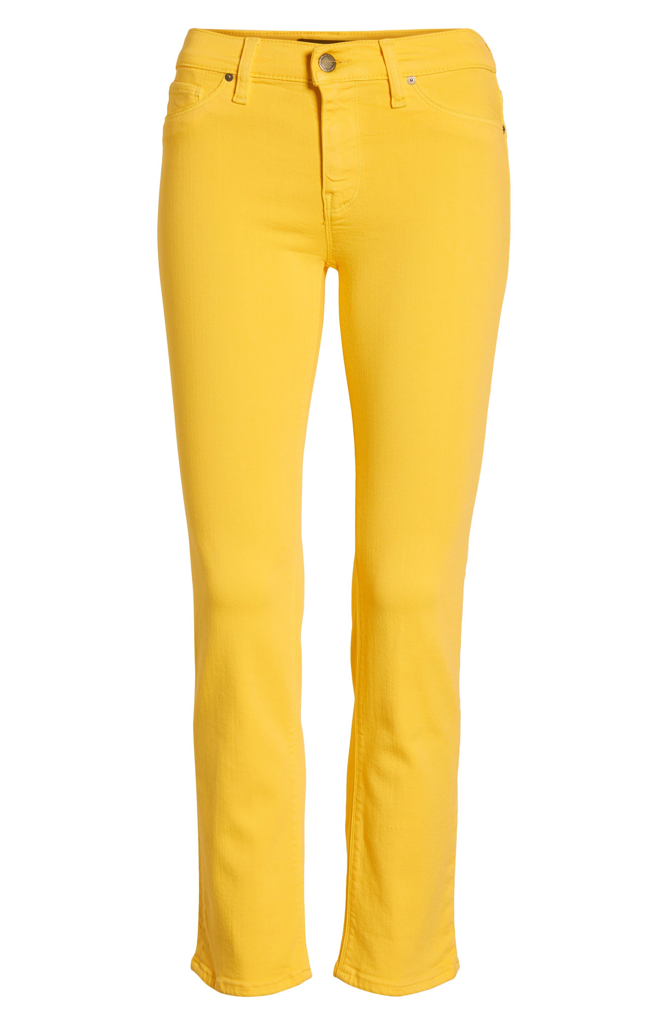 HUDSON JEANS, Hudson Ankle Straight Leg Jeans, Alternate thumbnail 7, color, STARBURST