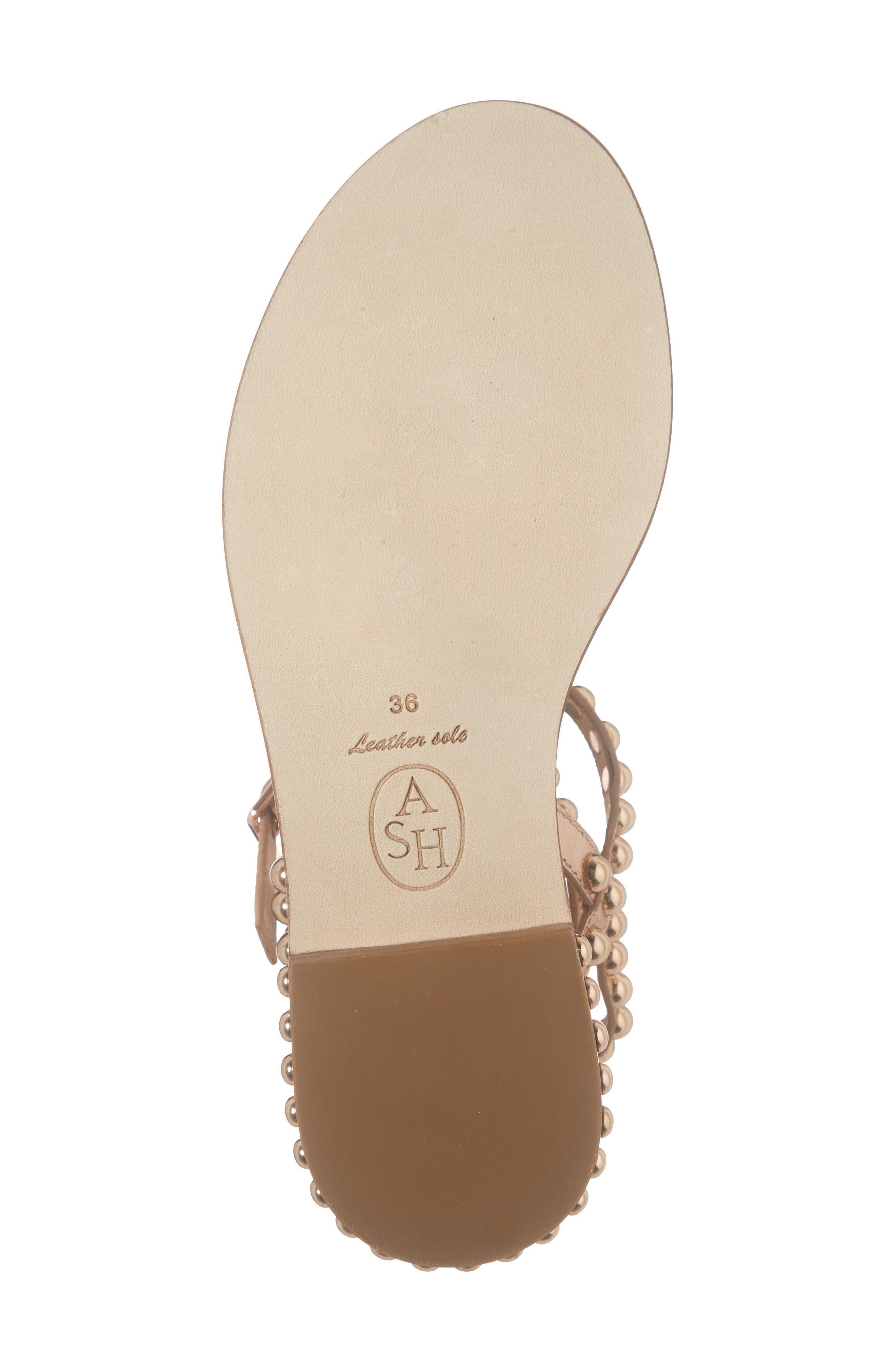 ASH, Play Studded Sandal, Alternate thumbnail 6, color, RAME