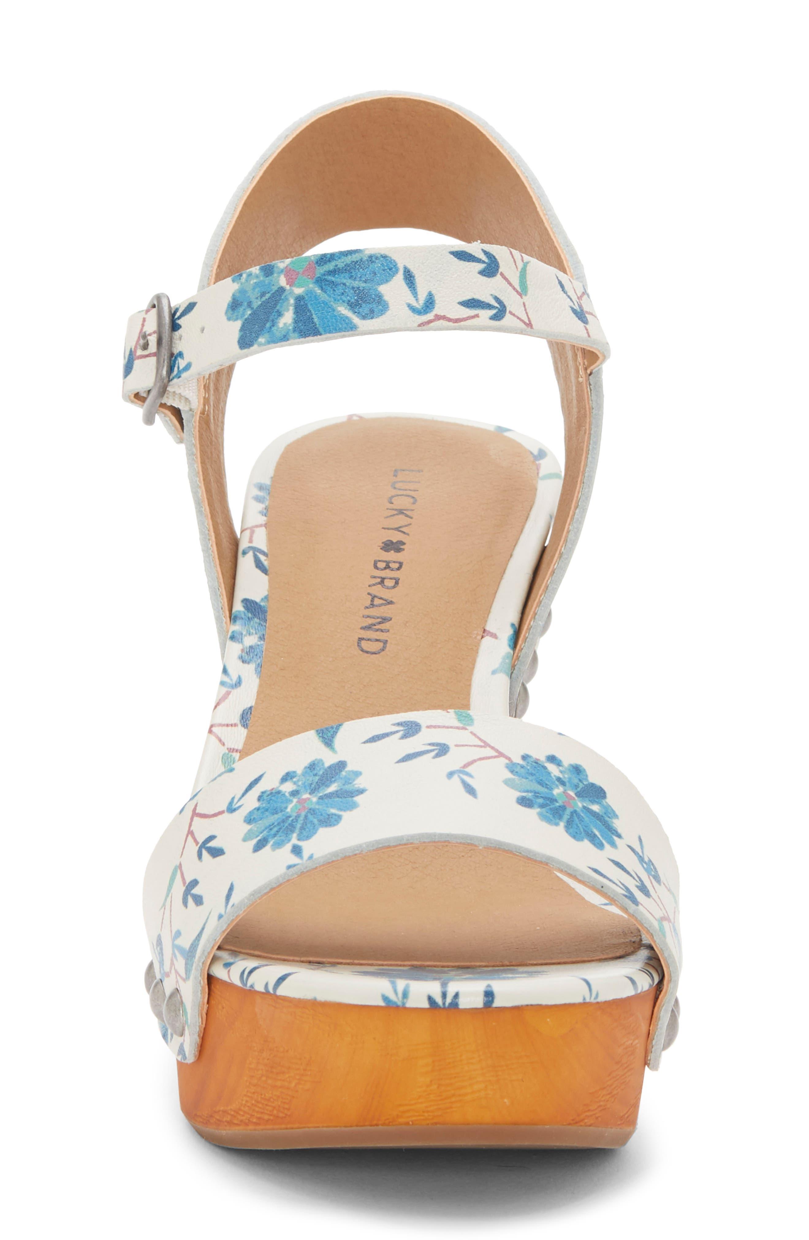 LUCKY BRAND, Trisa Platform Sandal, Alternate thumbnail 4, color, BIRCH LEATHER