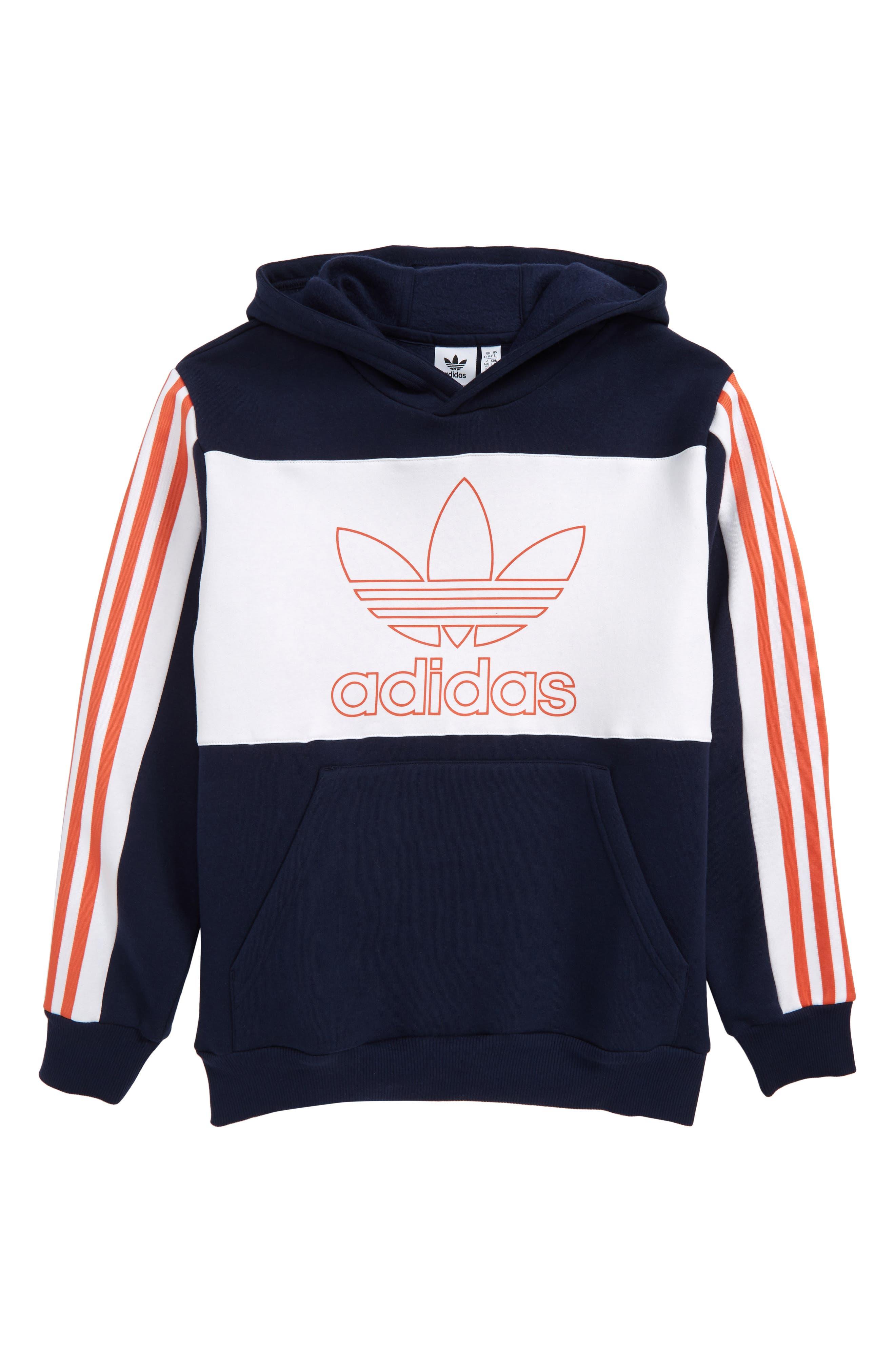 Boys Adidas Originals Trefoil Outline Hoodie