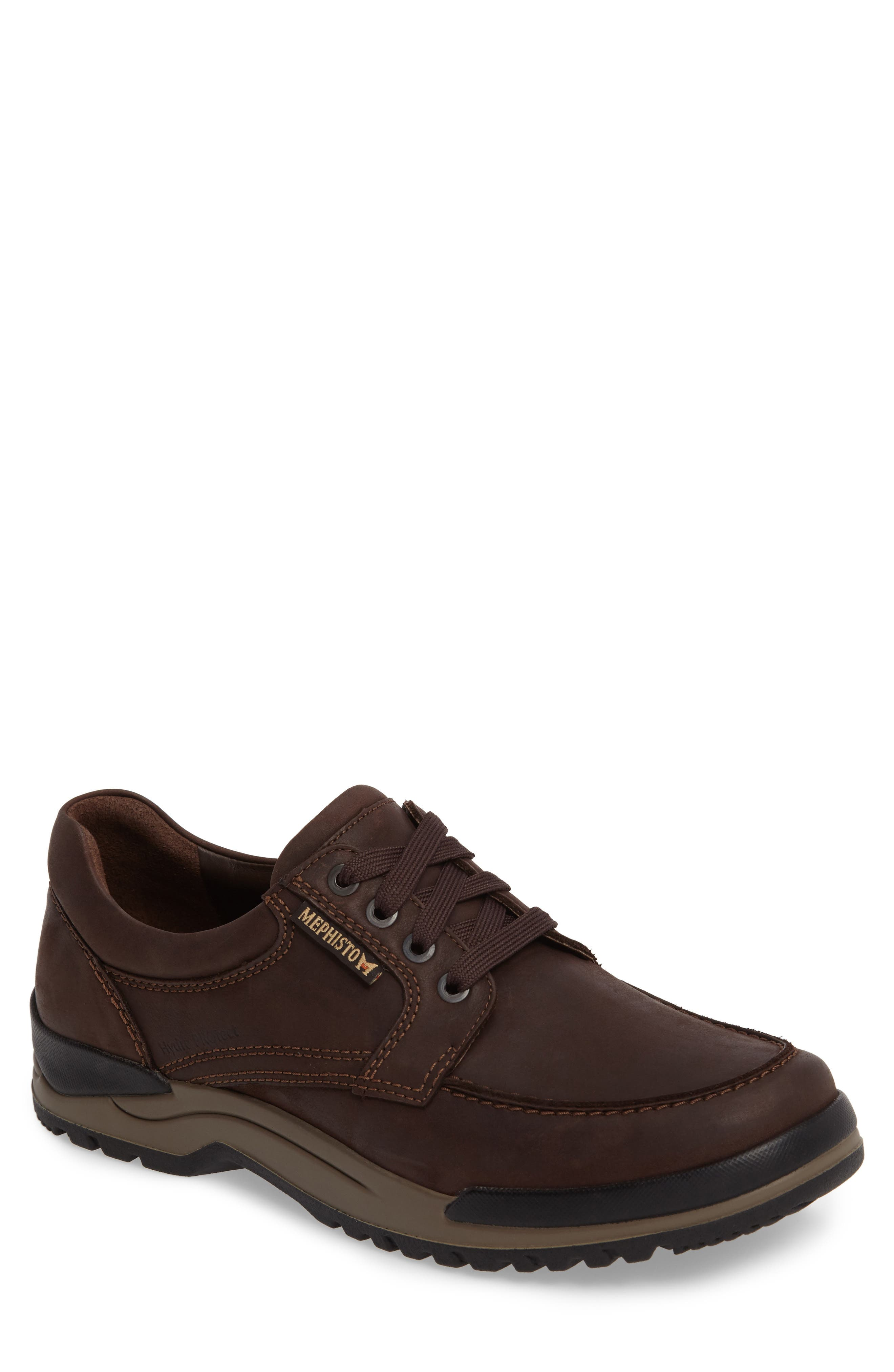 MEPHISTO Charles Waterproof Walking Shoe, Main, color, DARK BROWN