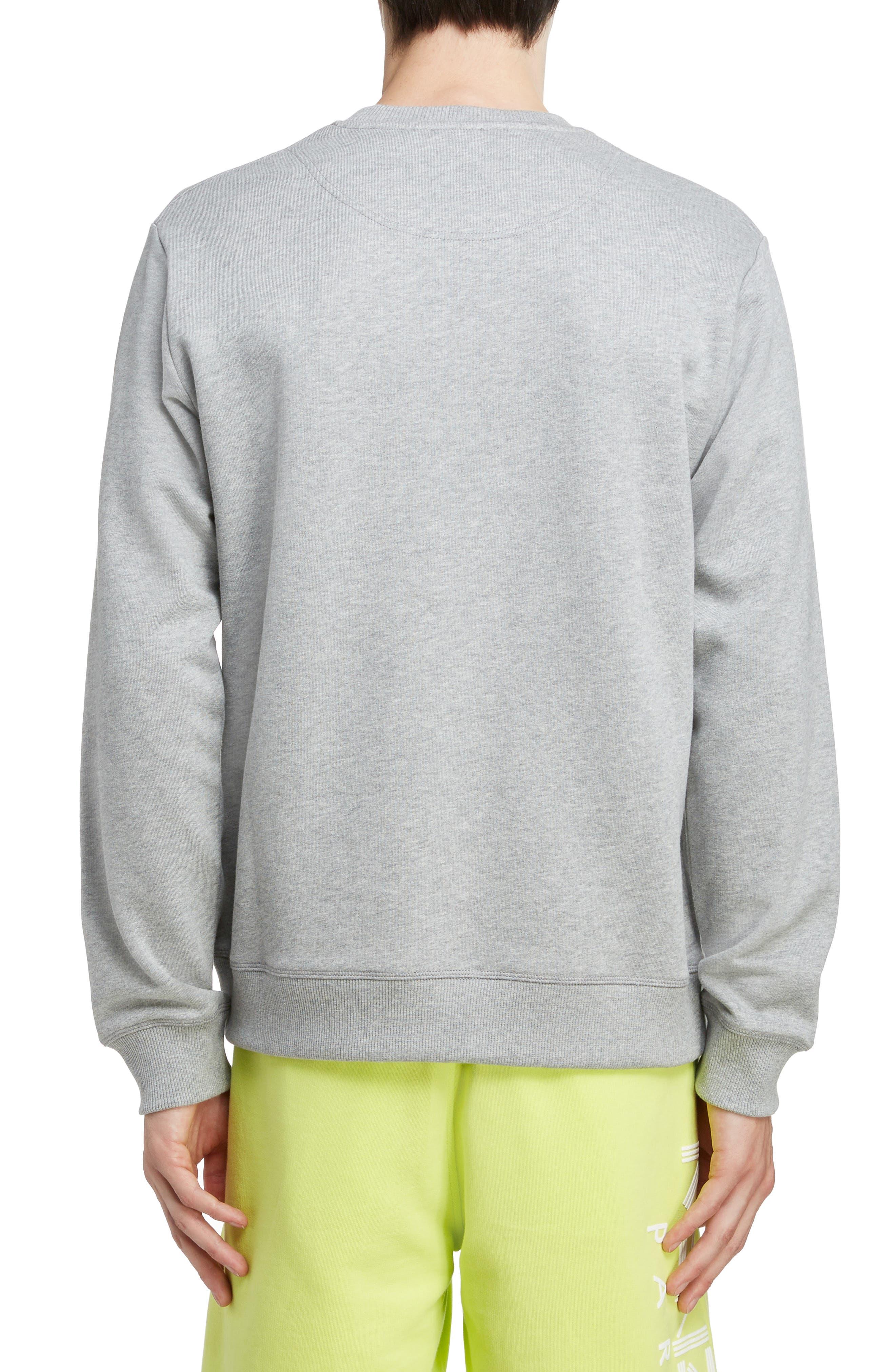 KENZO, Tiger Sweatshirt, Alternate thumbnail 2, color, PEARL GREY
