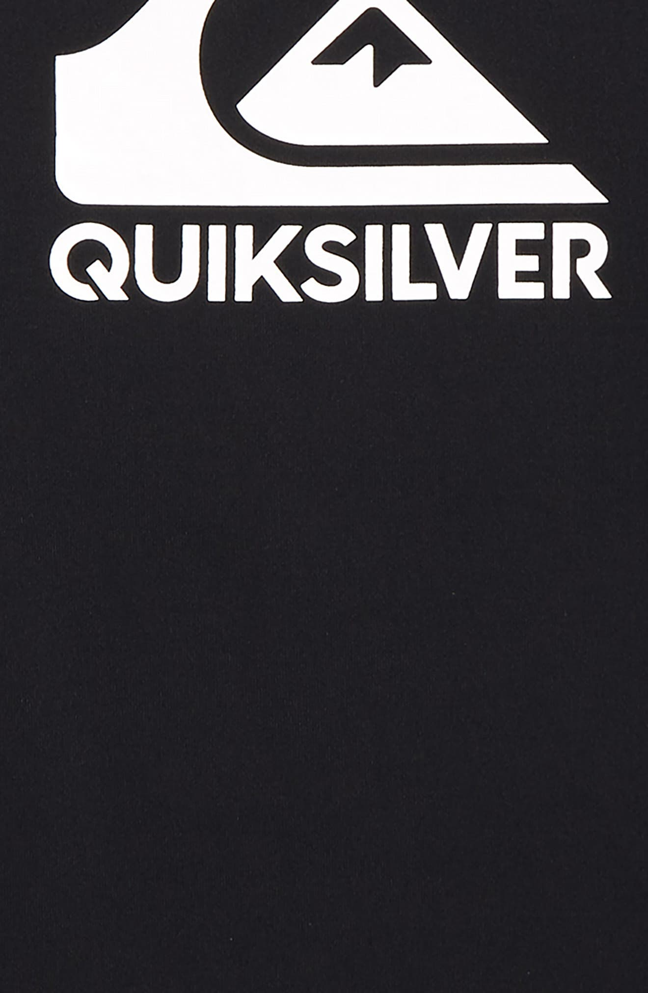 QUIKSILVER, Solid Streak Long Sleeve Rashguard, Alternate thumbnail 2, color, BLACK