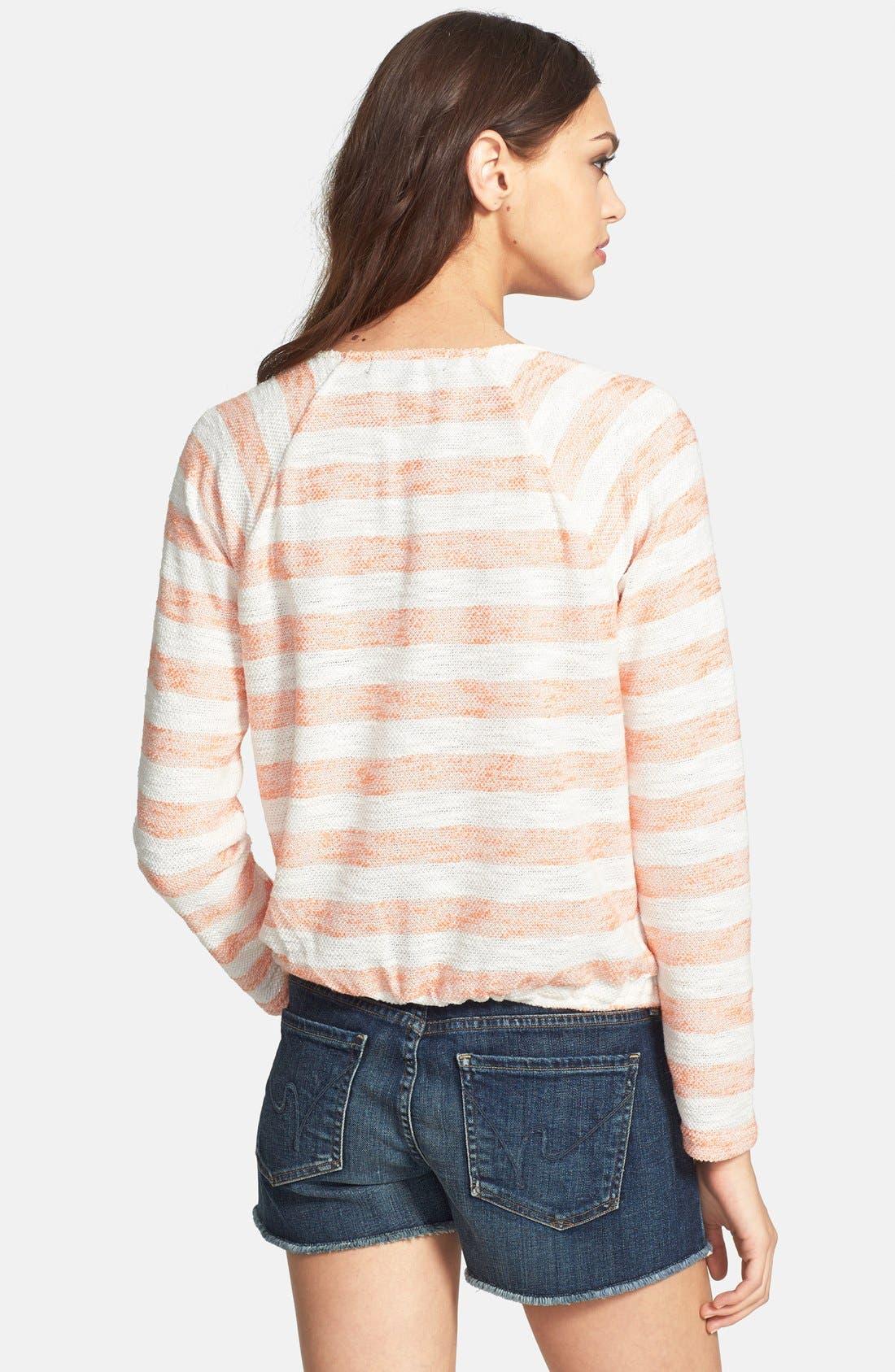 SANCTUARY, 'Beach' V-Neck Knit Sweater, Alternate thumbnail 3, color, 832