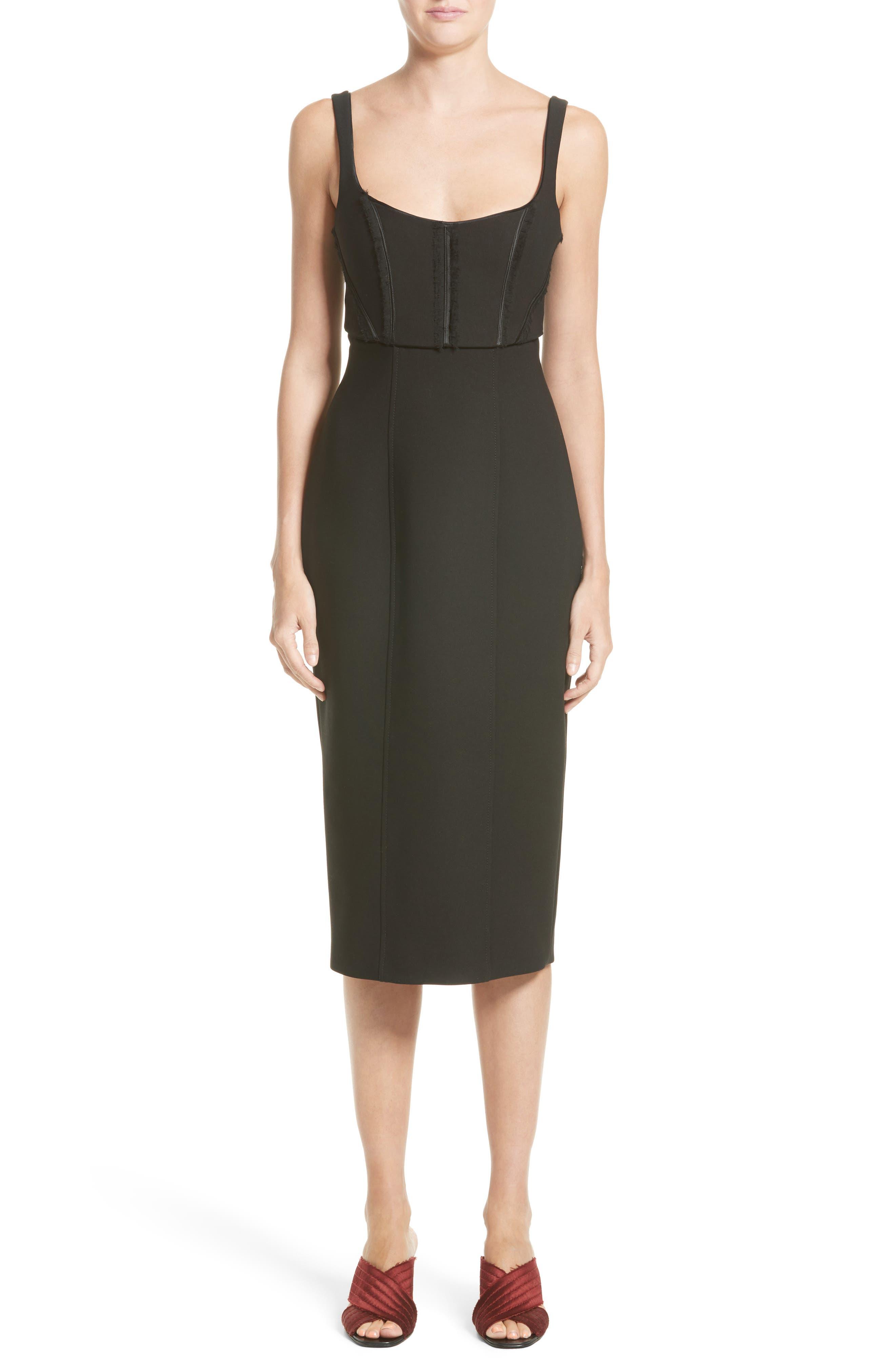 CINQ À SEPT Ellette Sheath Dress, Main, color, 001