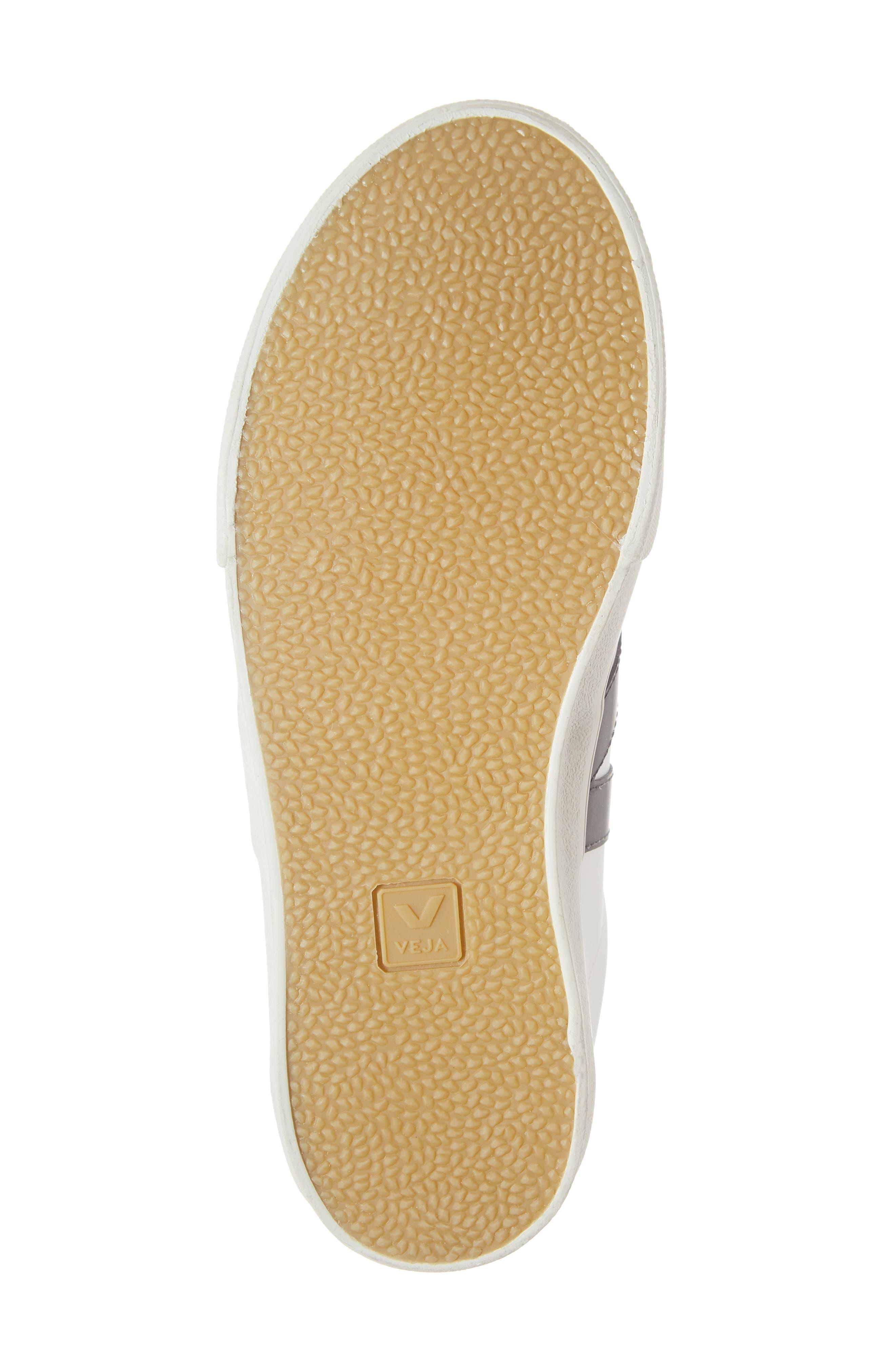 VEJA, Esplar Sneaker, Alternate thumbnail 6, color, EXTRA WHITE BLACK