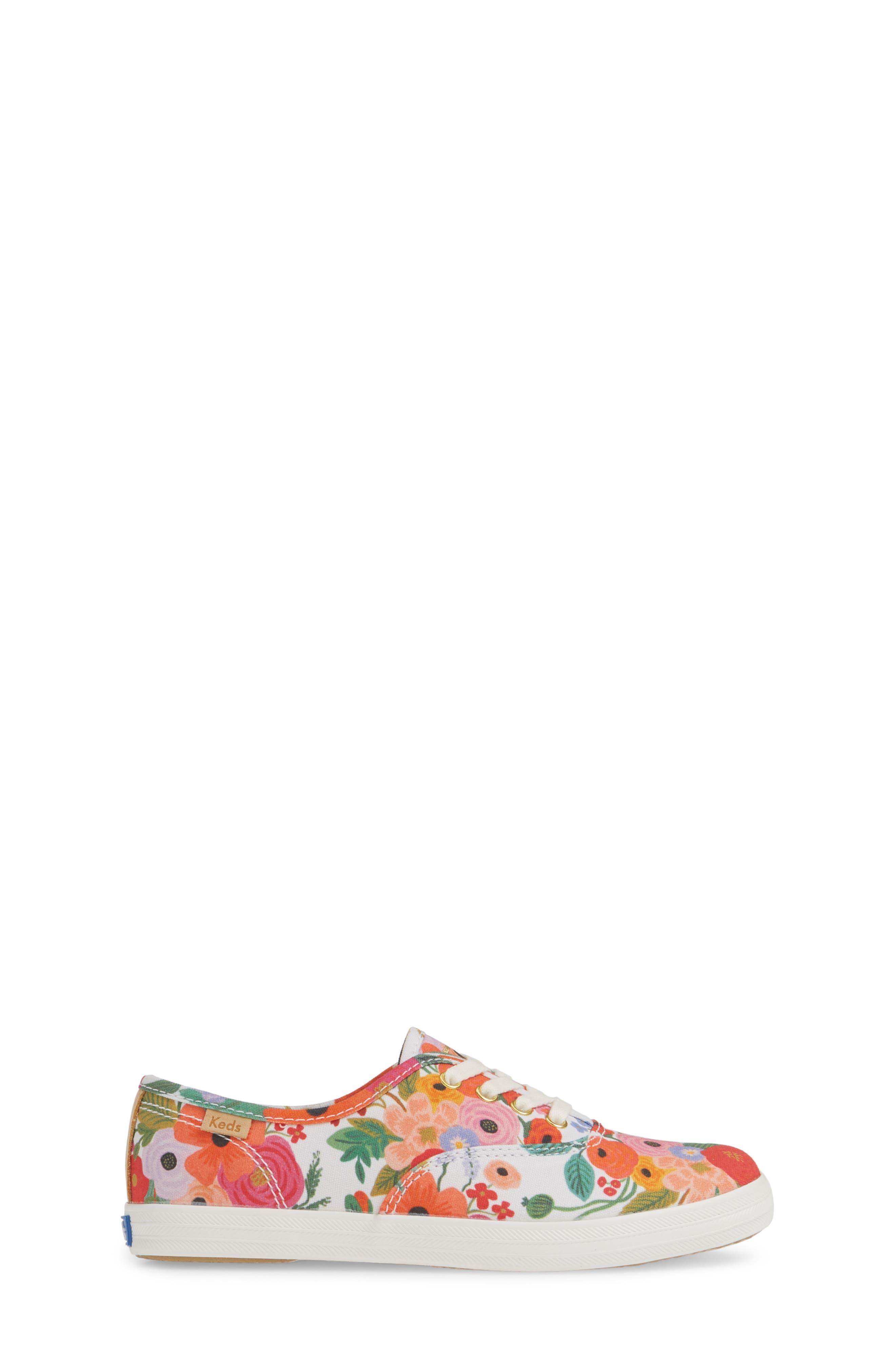 KEDS<SUP>®</SUP>, x Rifle Paper Co. Floral Print Champion Sneaker, Alternate thumbnail 3, color, GARDEN PARTY