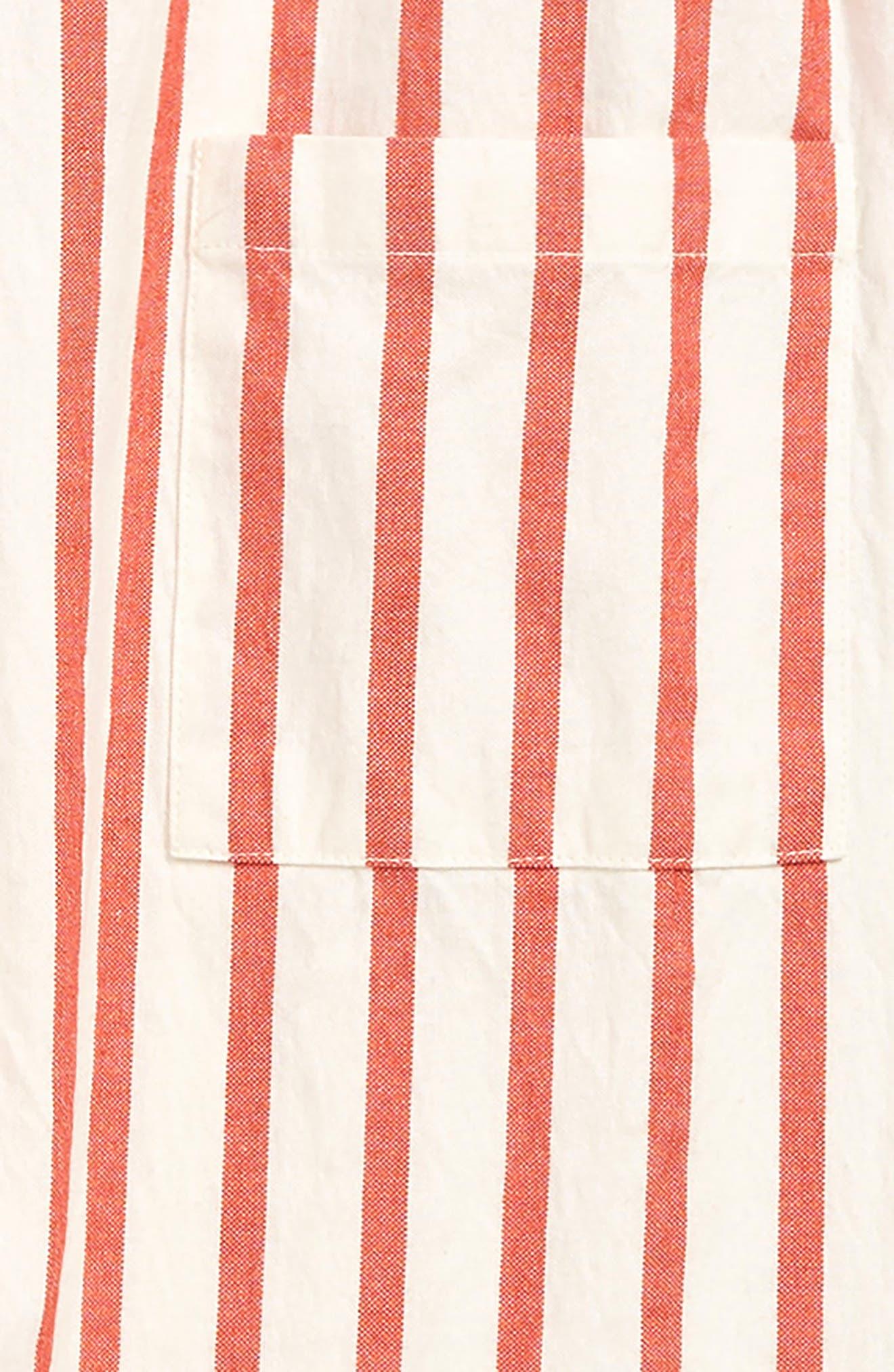 STEM, Stripe Jumpsuit, Alternate thumbnail 2, color, WHITE- RED STRIPE