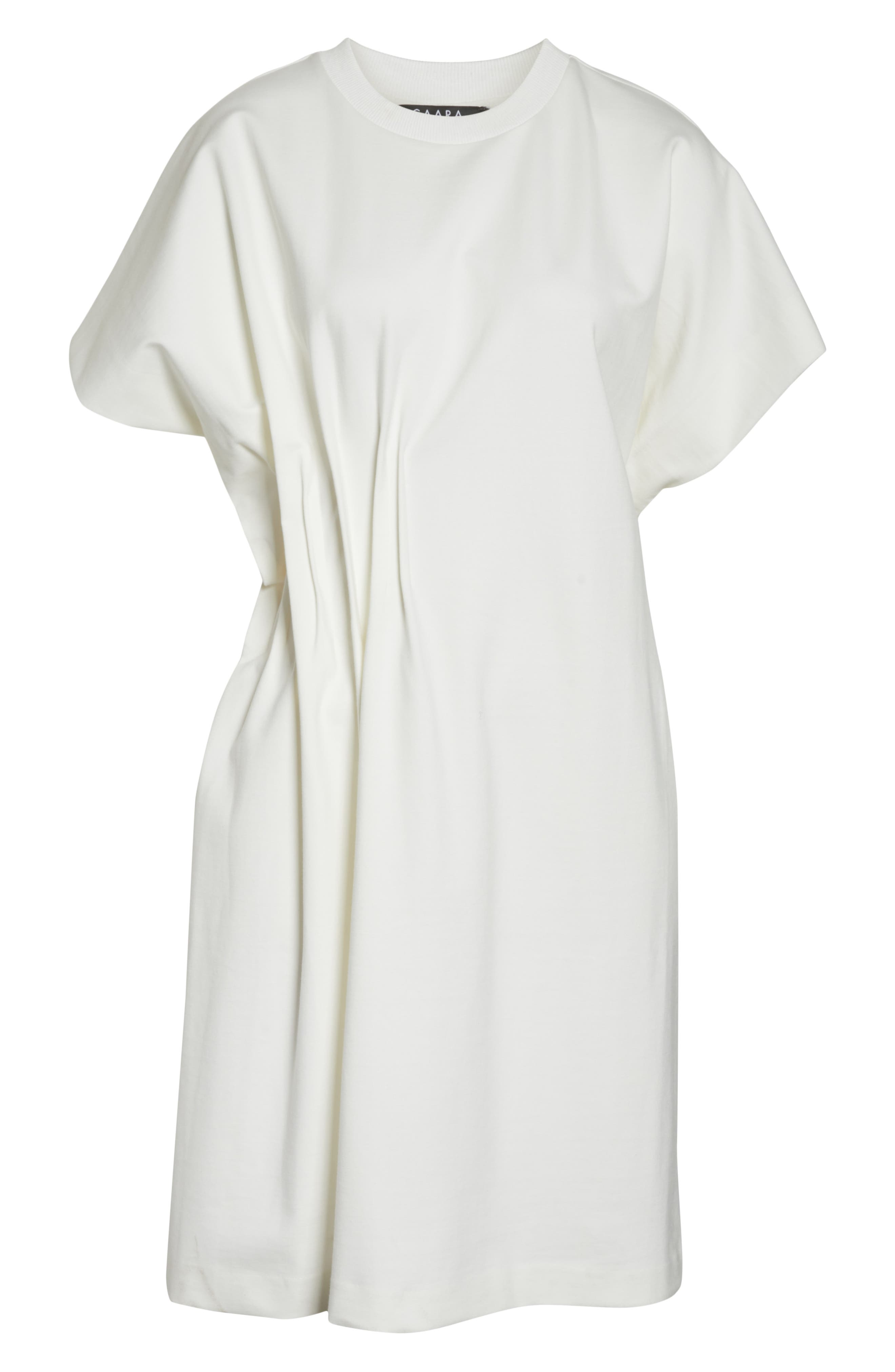 CAARA, Looma T-Shirt Dress, Alternate thumbnail 7, color, WHITE