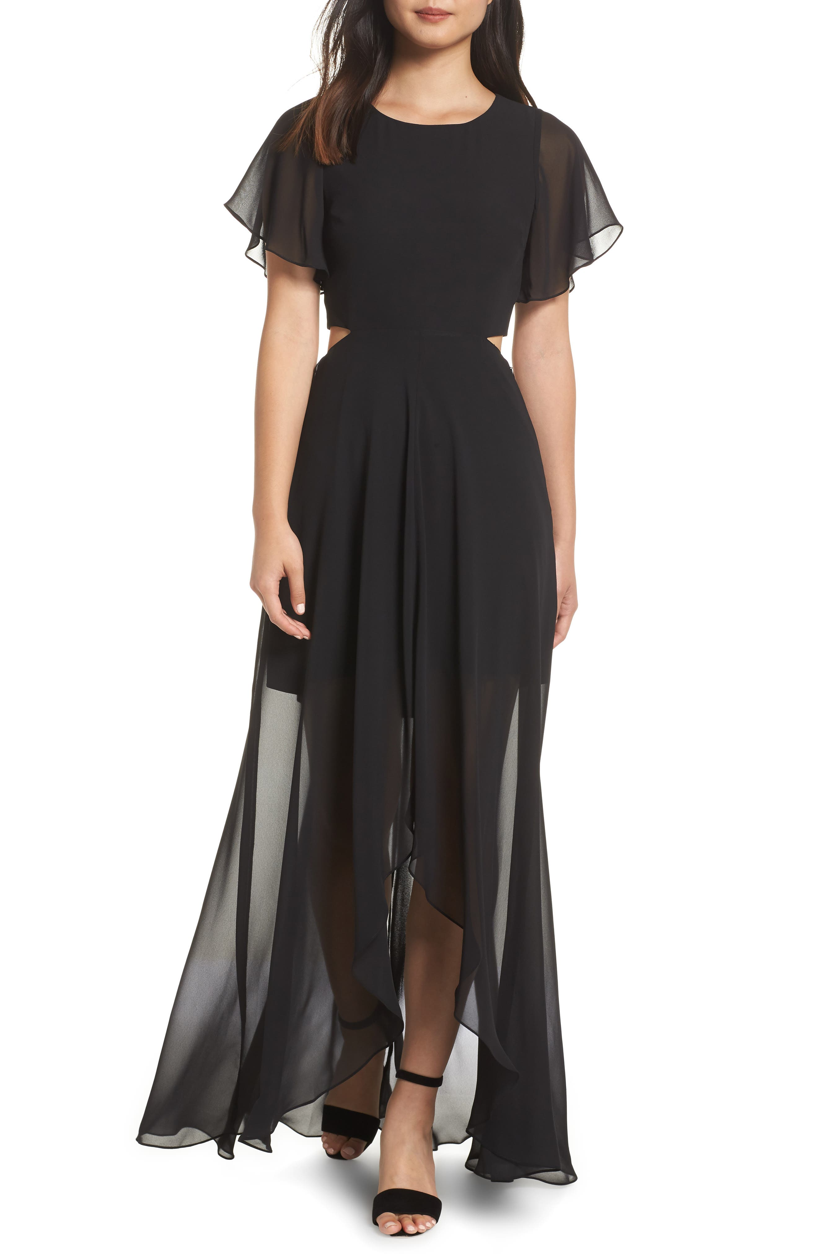 ALI & JAY, Cutout Maxi Dress, Main thumbnail 1, color, BLACK
