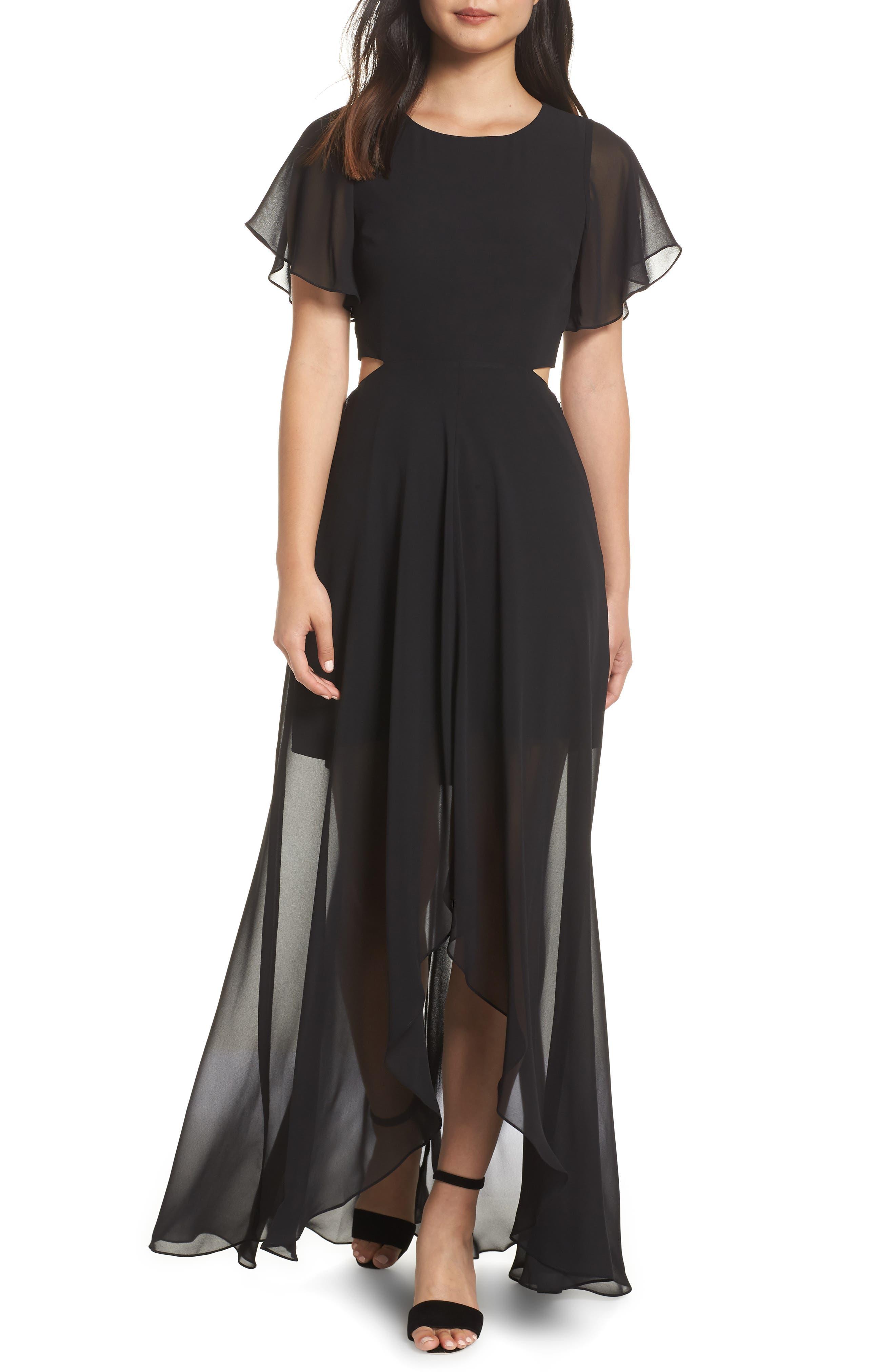 ALI & JAY Cutout Maxi Dress, Main, color, BLACK