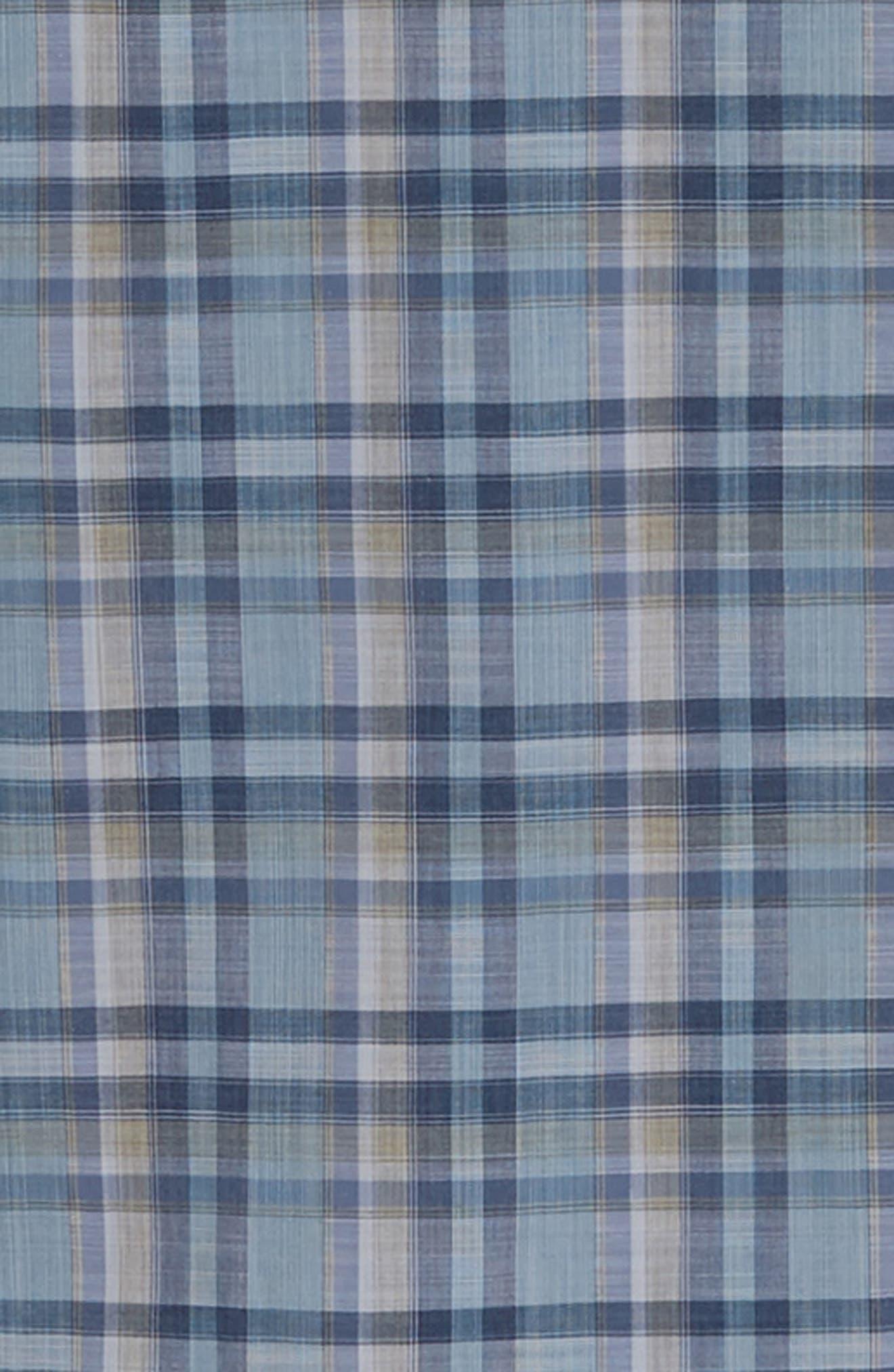 ZACHARY PRELL, Anthony Regular Fit Plaid Sport Shirt, Alternate thumbnail 6, color, LT BLUE