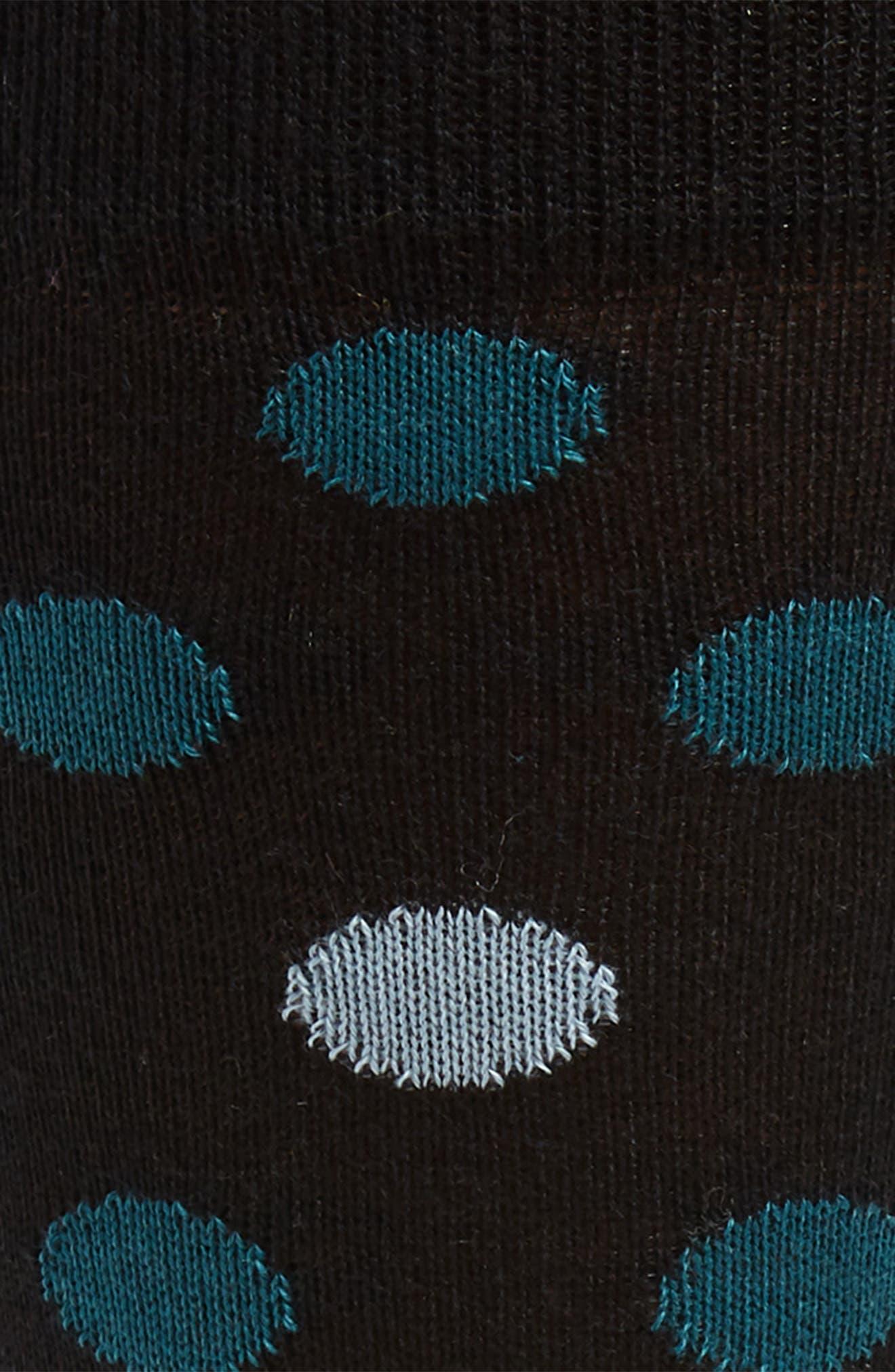 BUGATCHI, Dot Socks, Alternate thumbnail 2, color, BLACK
