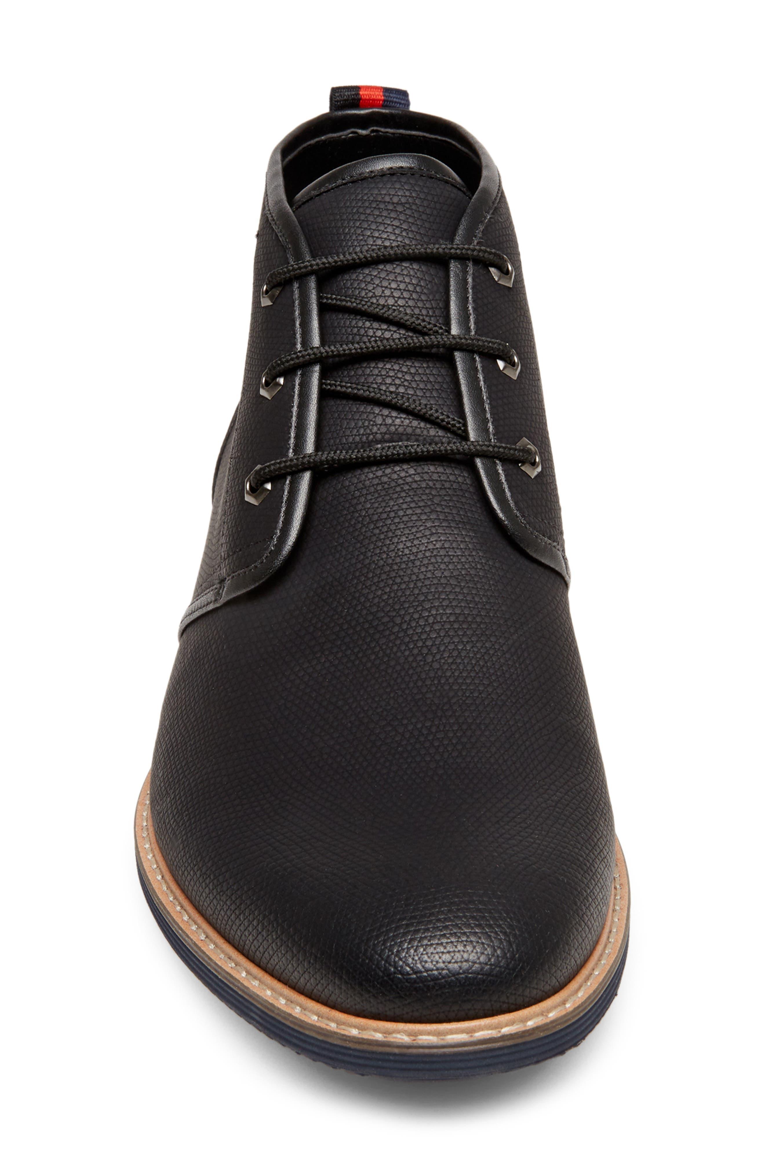 STEVE MADDEN, Nurture Plain Toe Boot, Alternate thumbnail 4, color, 002