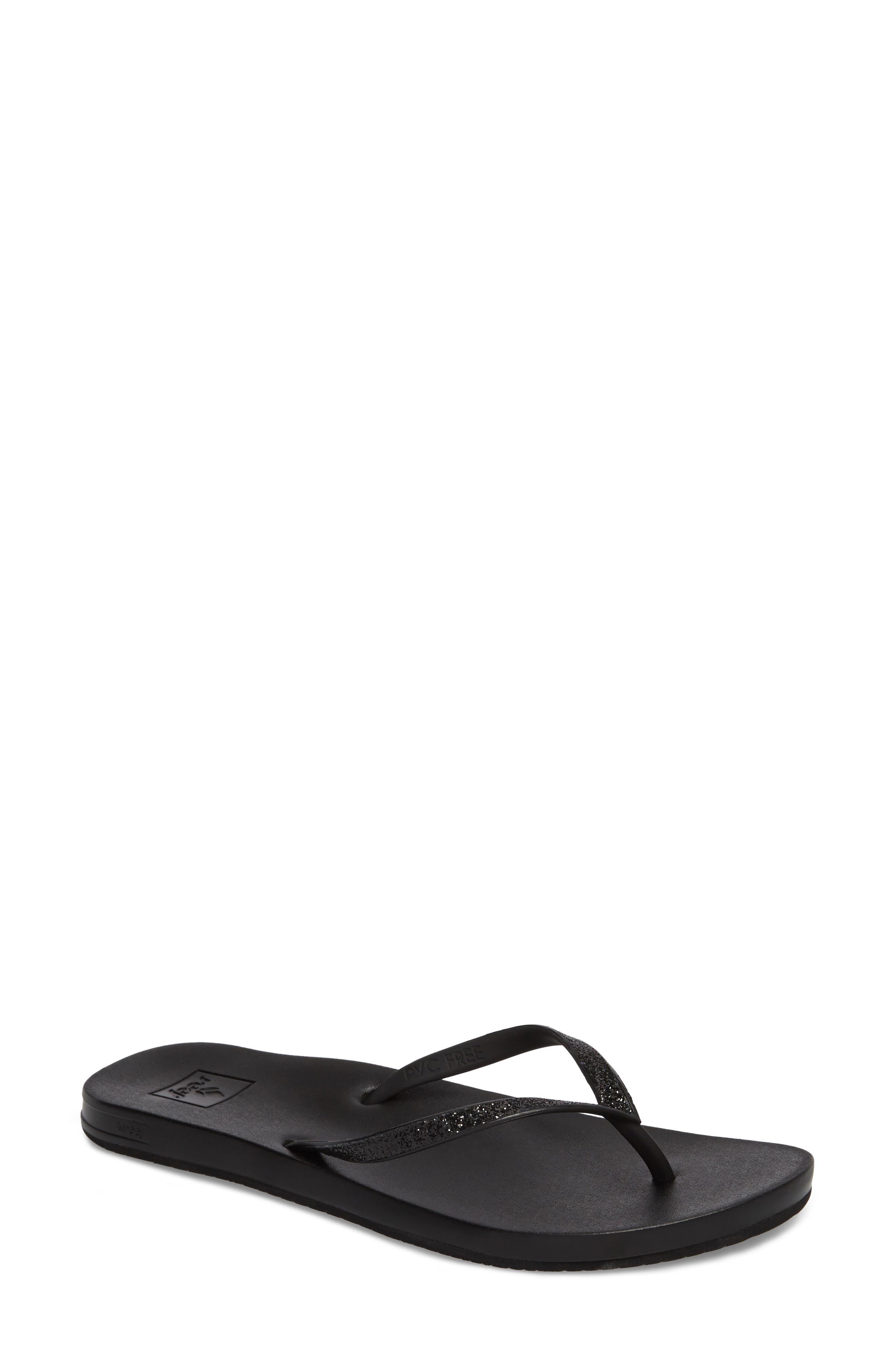 REEF Cushion Bounce Stargazer Flip Flop, Main, color, BLACK