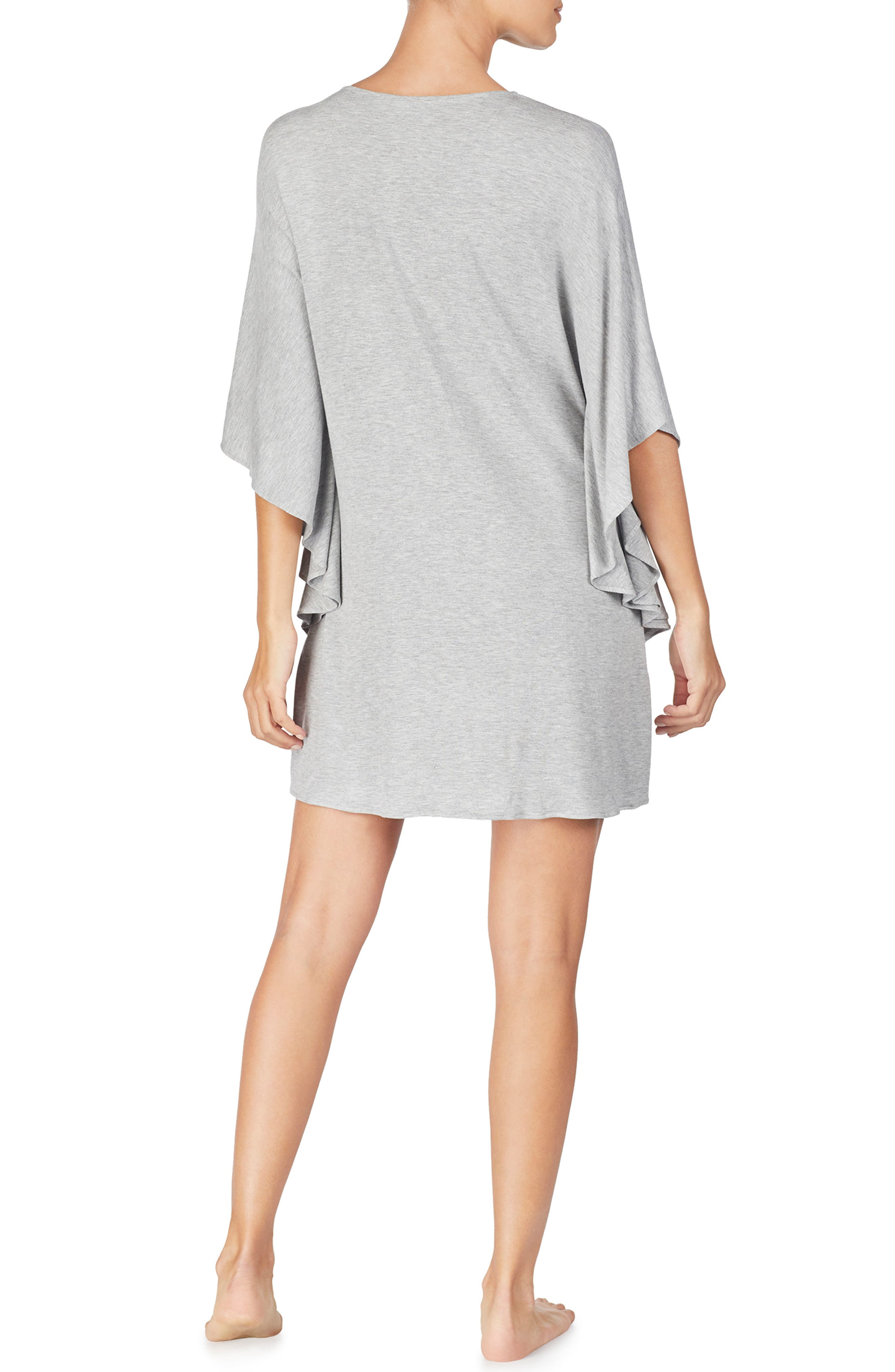 LAUREN RALPH LAUREN, Caftan Nightgown, Alternate thumbnail 2, color, GREY