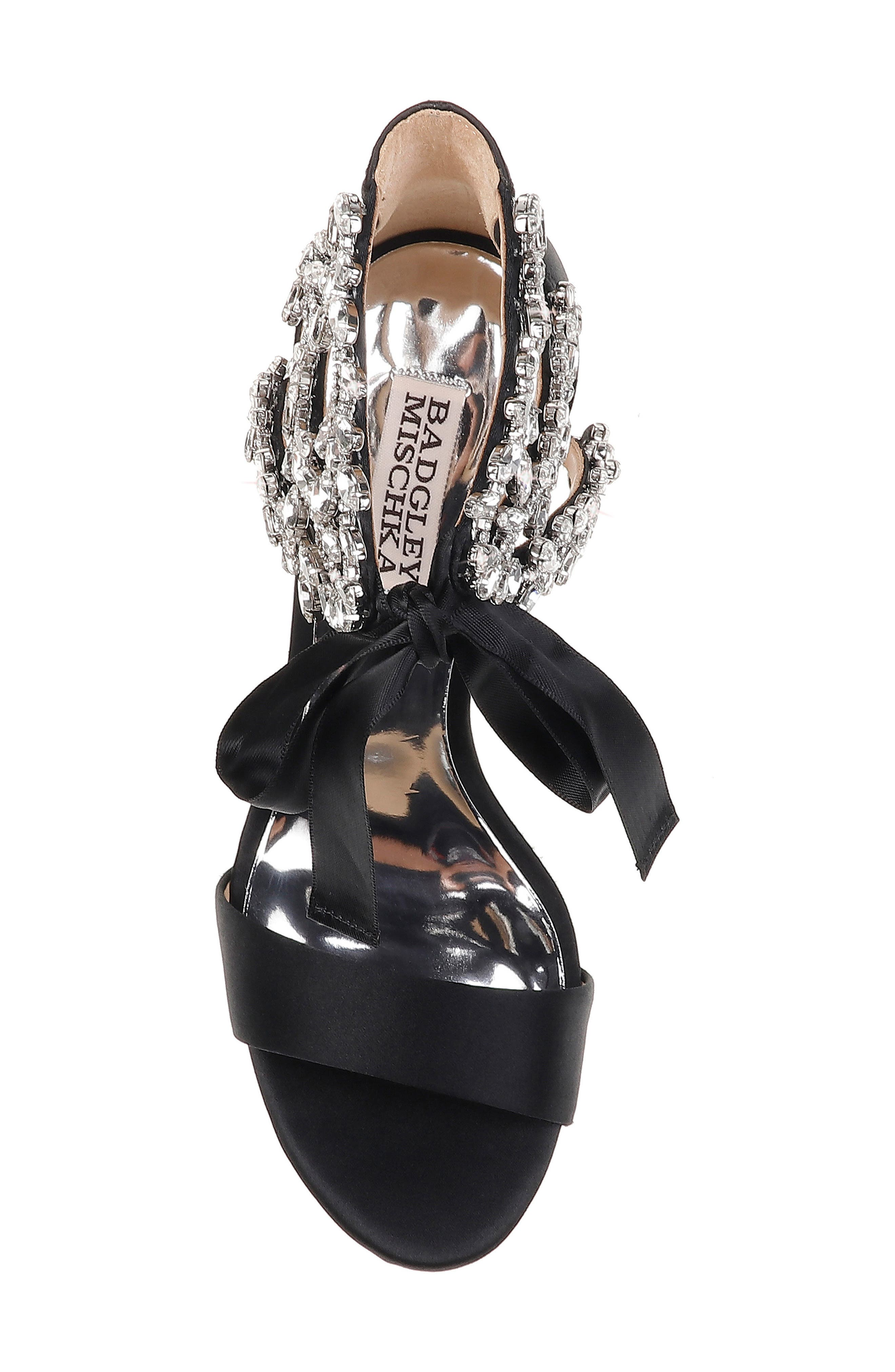 BADGLEY MISCHKA COLLECTION, Badgley Mischka Felicia Embellished Sandal, Alternate thumbnail 5, color, 015