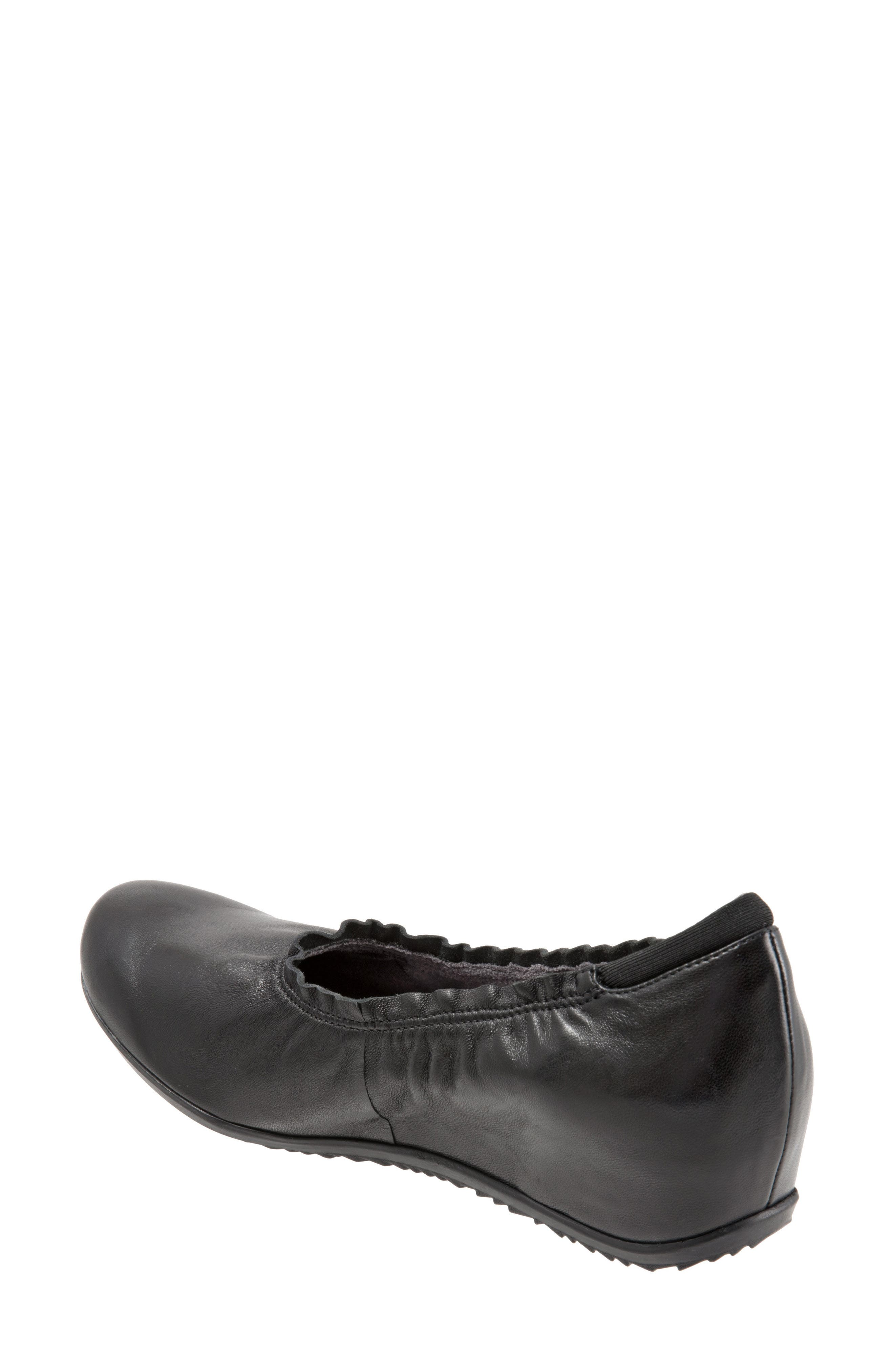SOFTWALK<SUP>®</SUP>, Wish Ballet Wedge, Alternate thumbnail 2, color, BLACK LEATHER