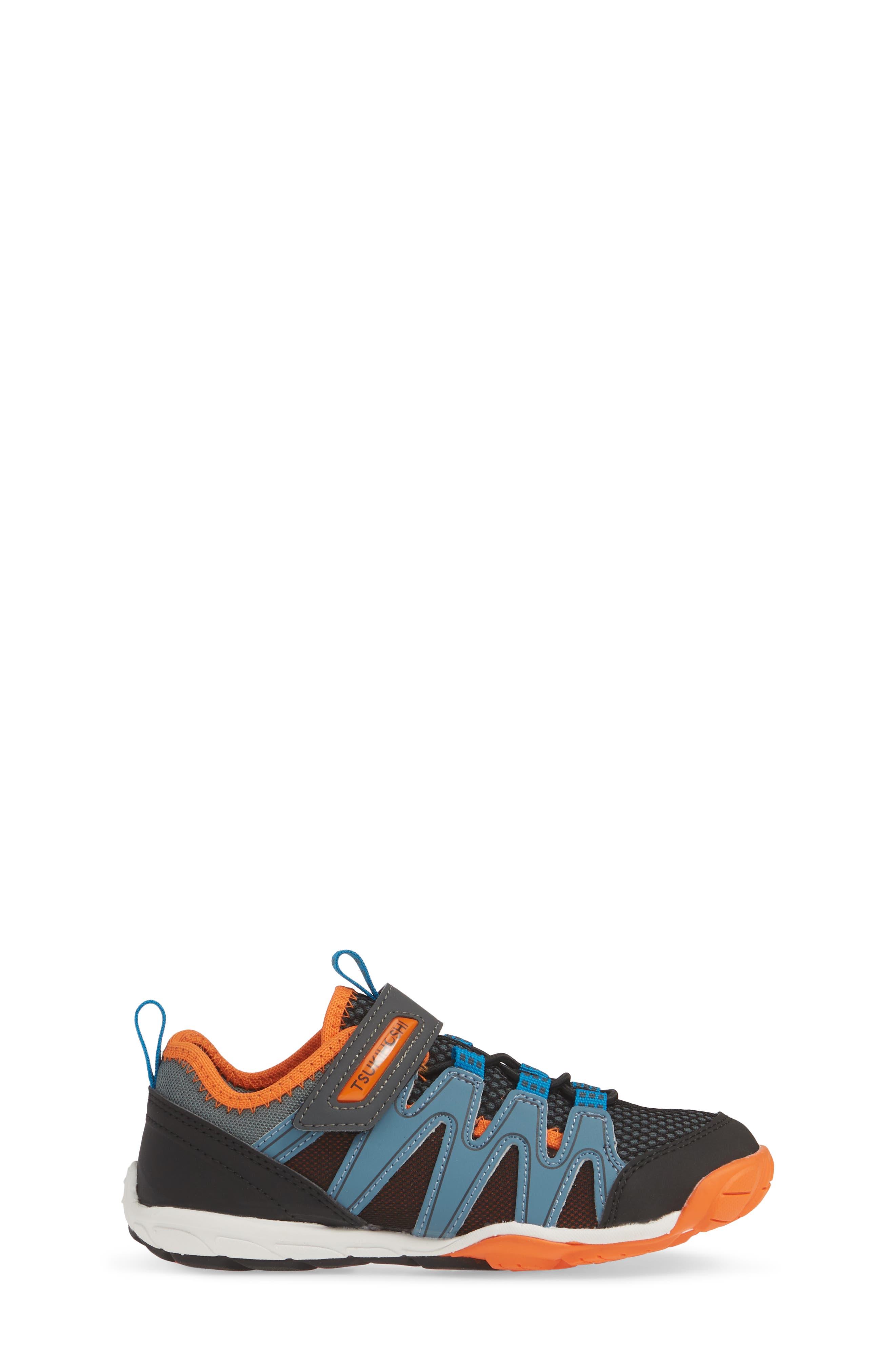 TSUKIHOSHI, Wave Washable Sneaker, Alternate thumbnail 3, color, BLACK/ ORANGE
