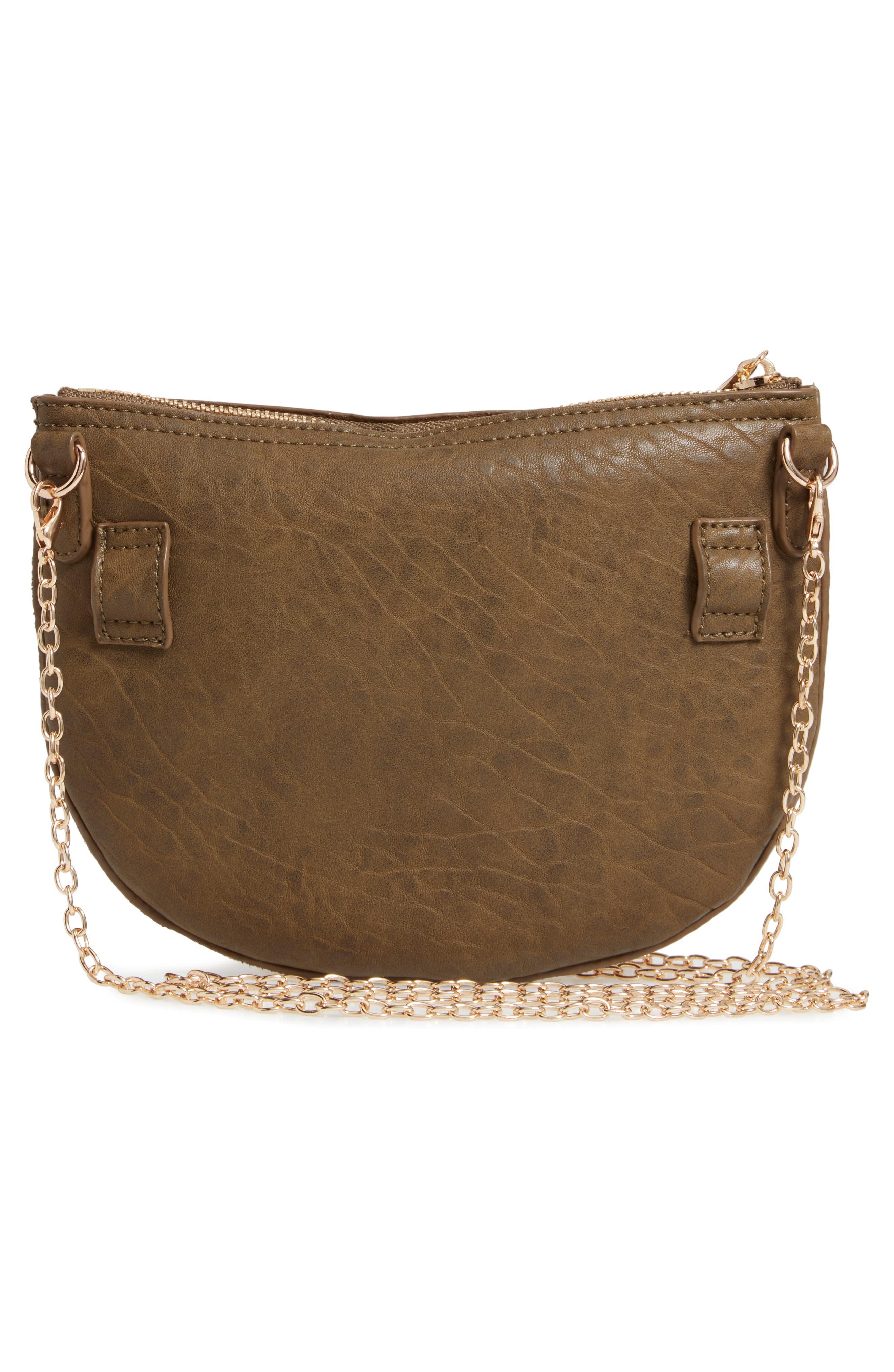 SOLE SOCIETY, Jeana Studded Convertible Belt Bag, Alternate thumbnail 5, color, OLIVE