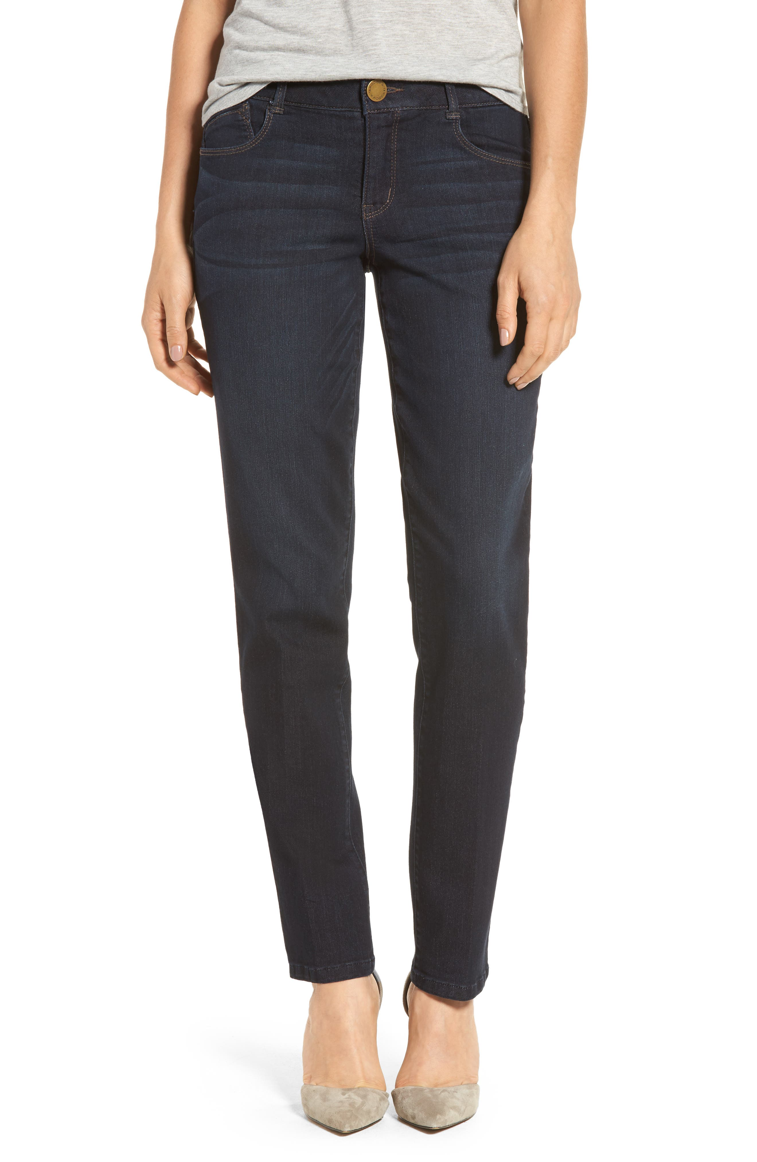 WIT & WISDOM, Ab-solution Straight Leg Jeans, Main thumbnail 1, color, INDIGO