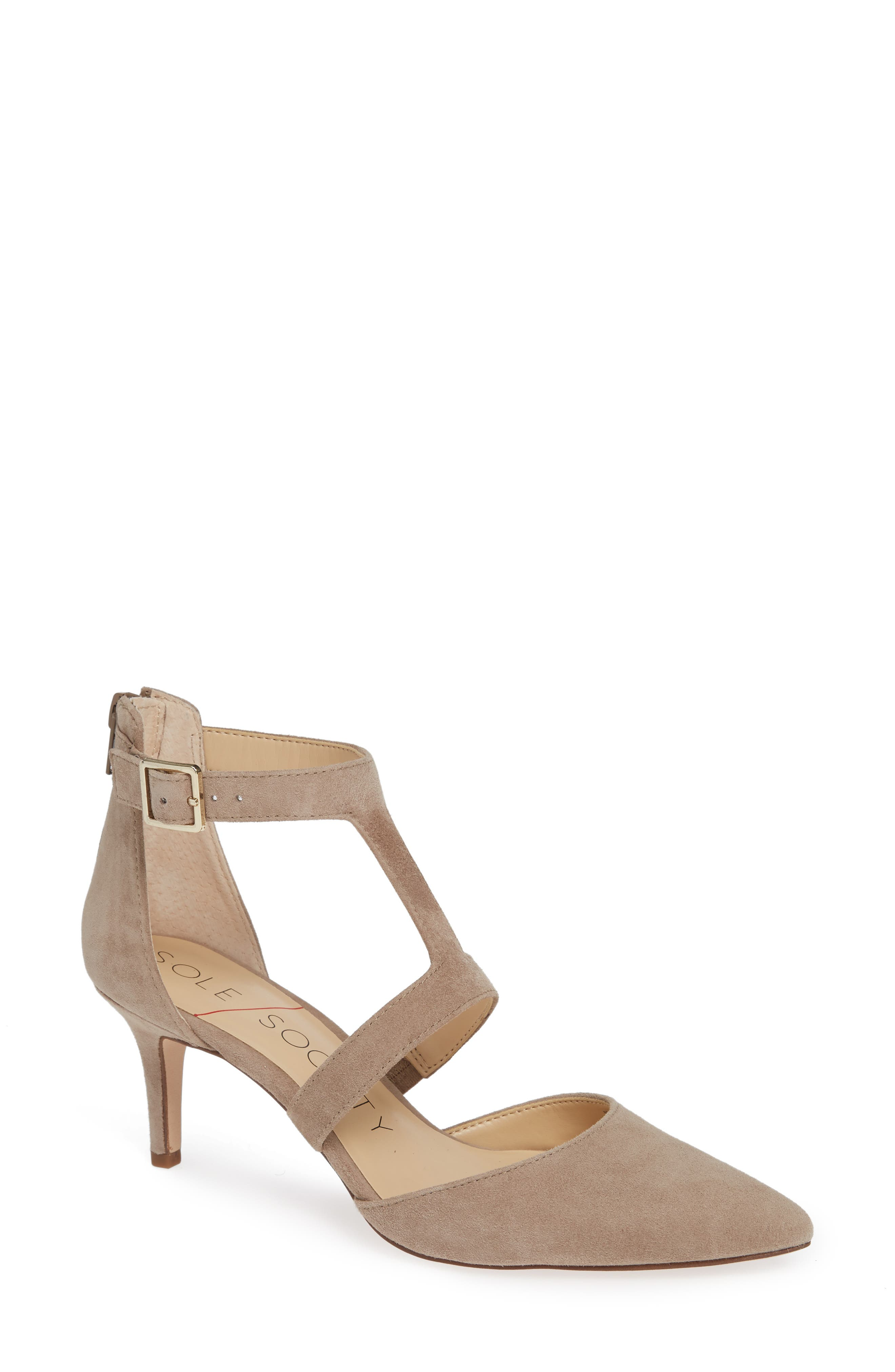 SOLE SOCIETY, Edelyn Pump, Main thumbnail 1, color, FALL TAUPE SUEDE