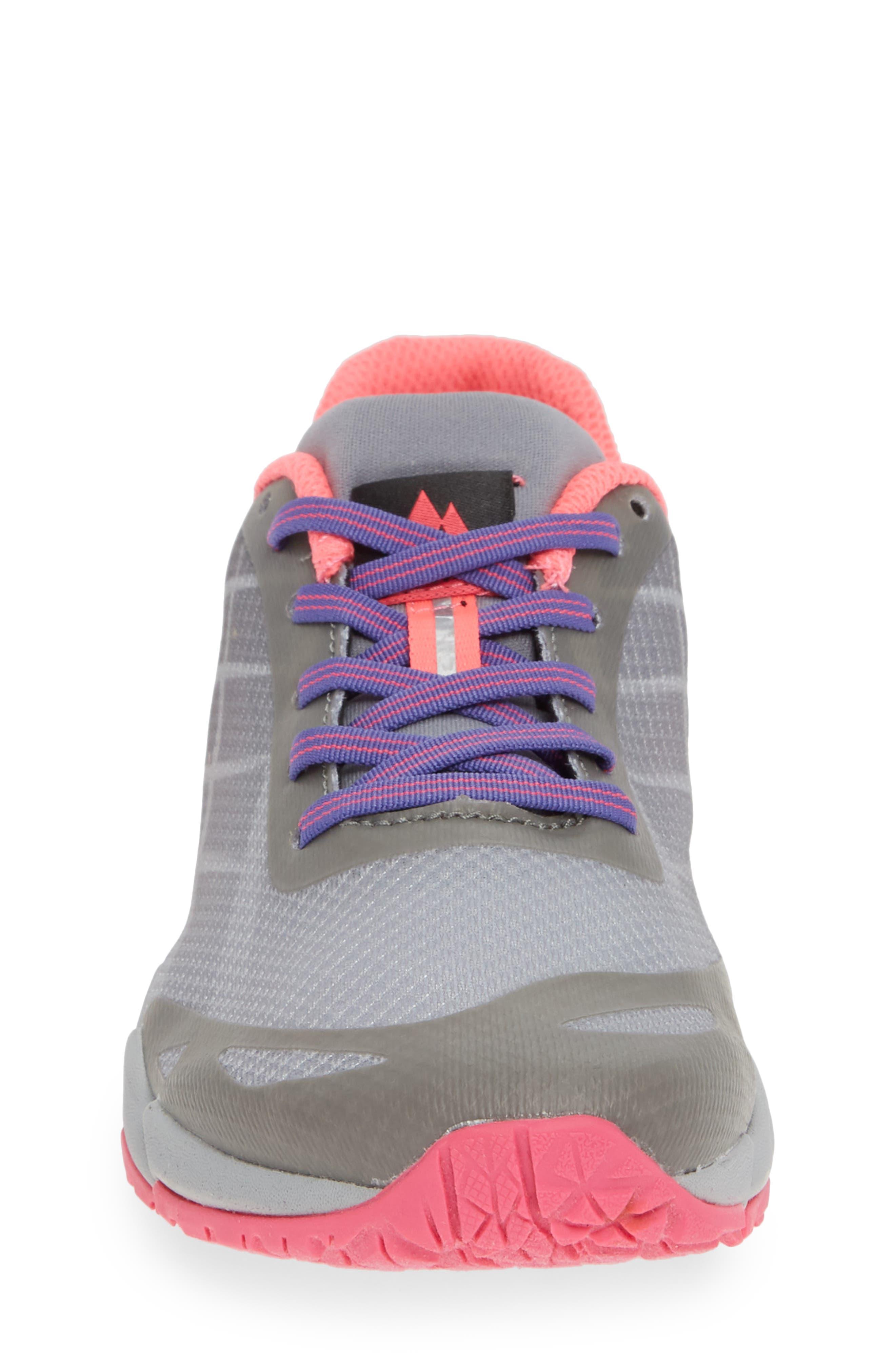 MERRELL, Bare Access Sneaker, Alternate thumbnail 4, color, GREY/ MULTI SYNTHETIC