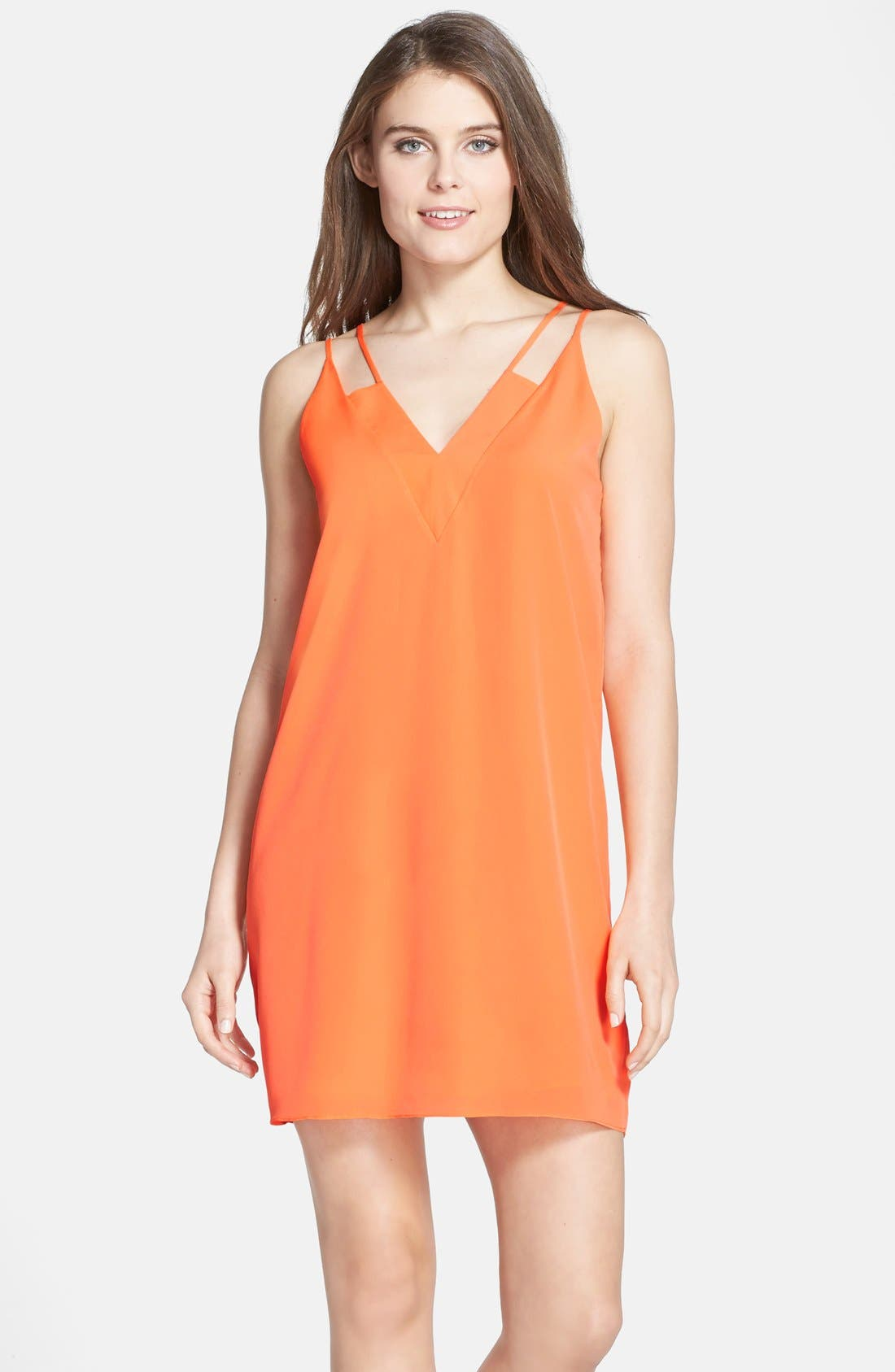 CECE by Cynthia Steffe 'Sweeny' Crêpe de Chine Slipdress, Main, color, 874