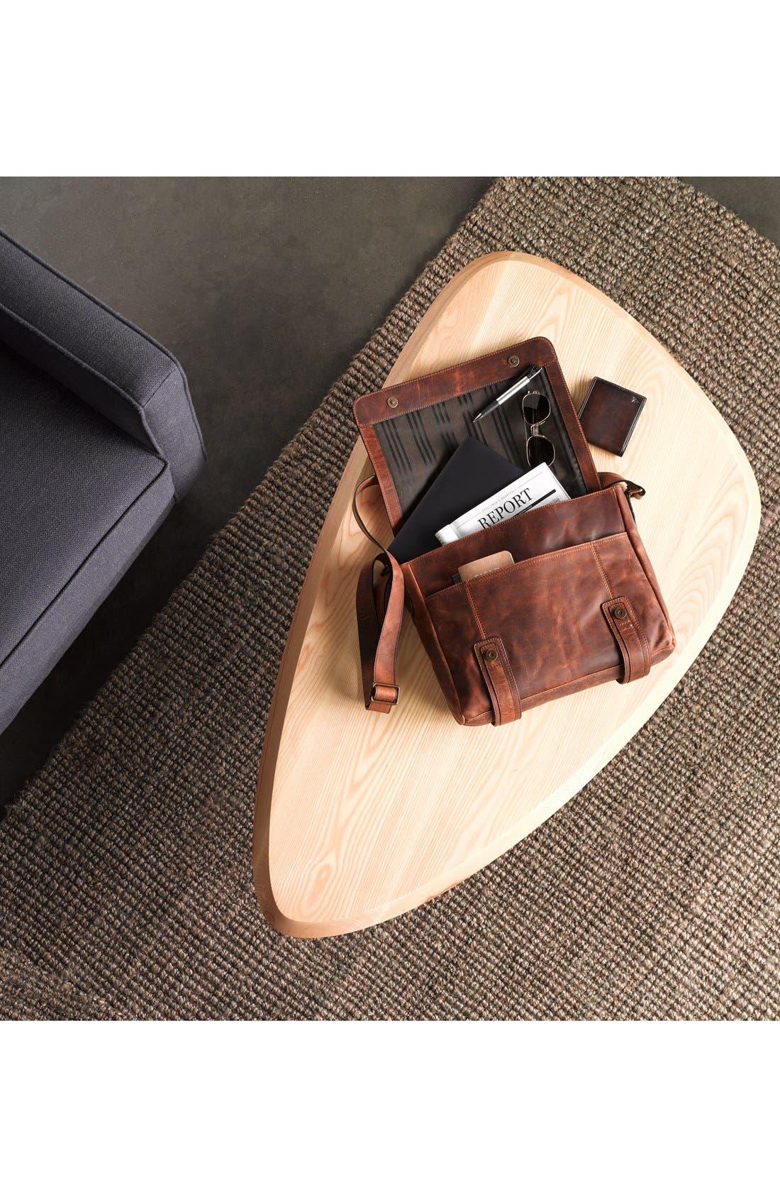 FRYE, 'Logan' Leather Billfold Wallet, Alternate thumbnail 5, color, SLATE