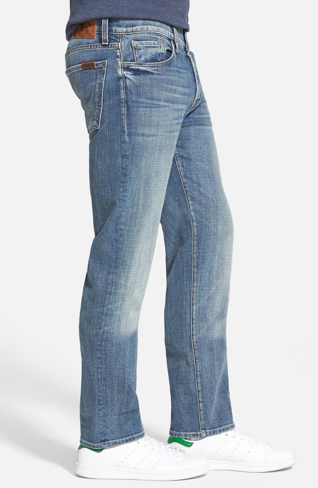 7 FOR ALL MANKIND<SUP>®</SUP>, 'Slimmy' Slim Fit Jeans, Alternate thumbnail 4, color, 400