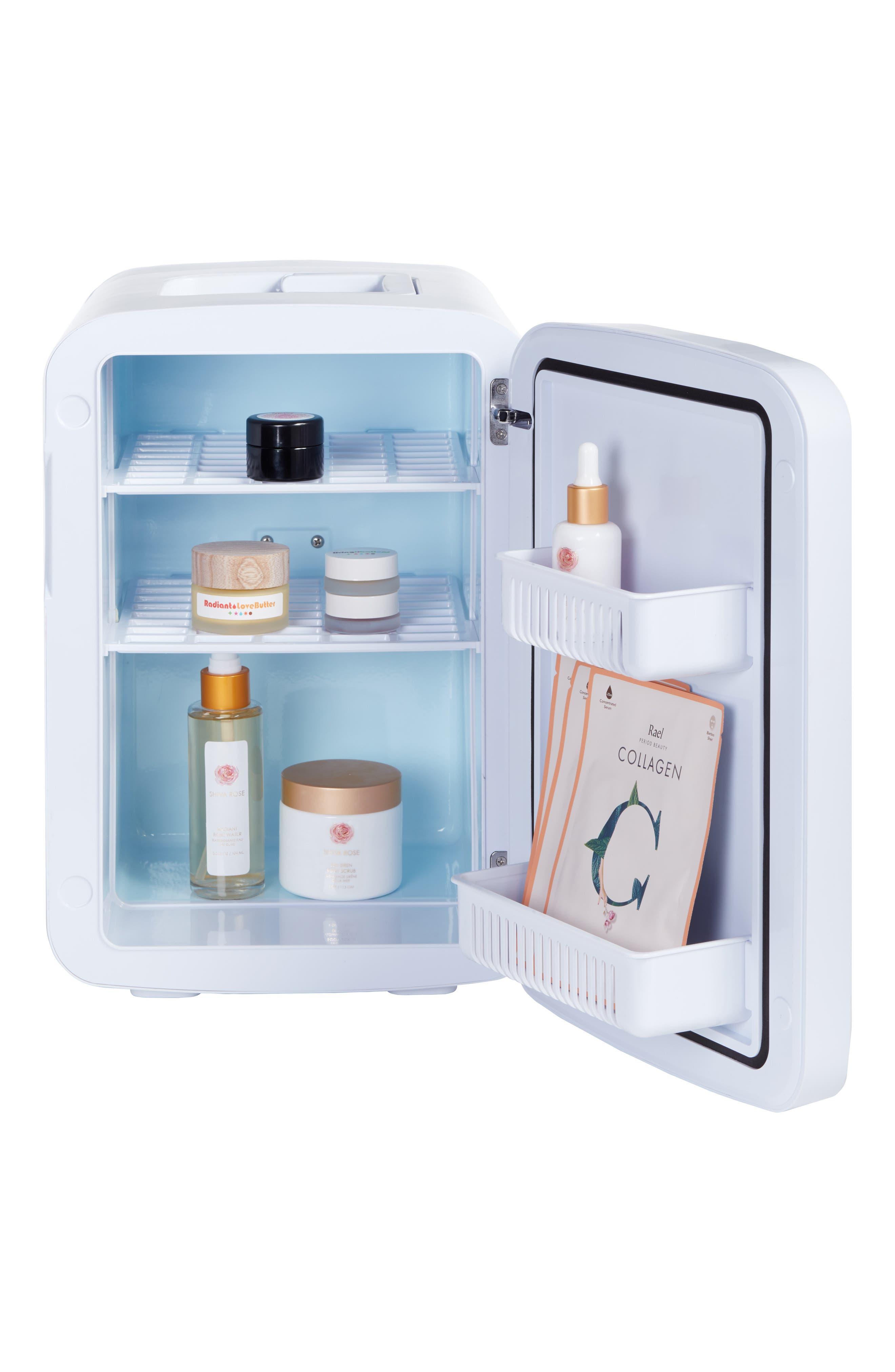 COOLULI, The Vibe Whiteboard 15L Thermoelectric Mini Beauty Fridge & Warmer, Alternate thumbnail 2, color, 100
